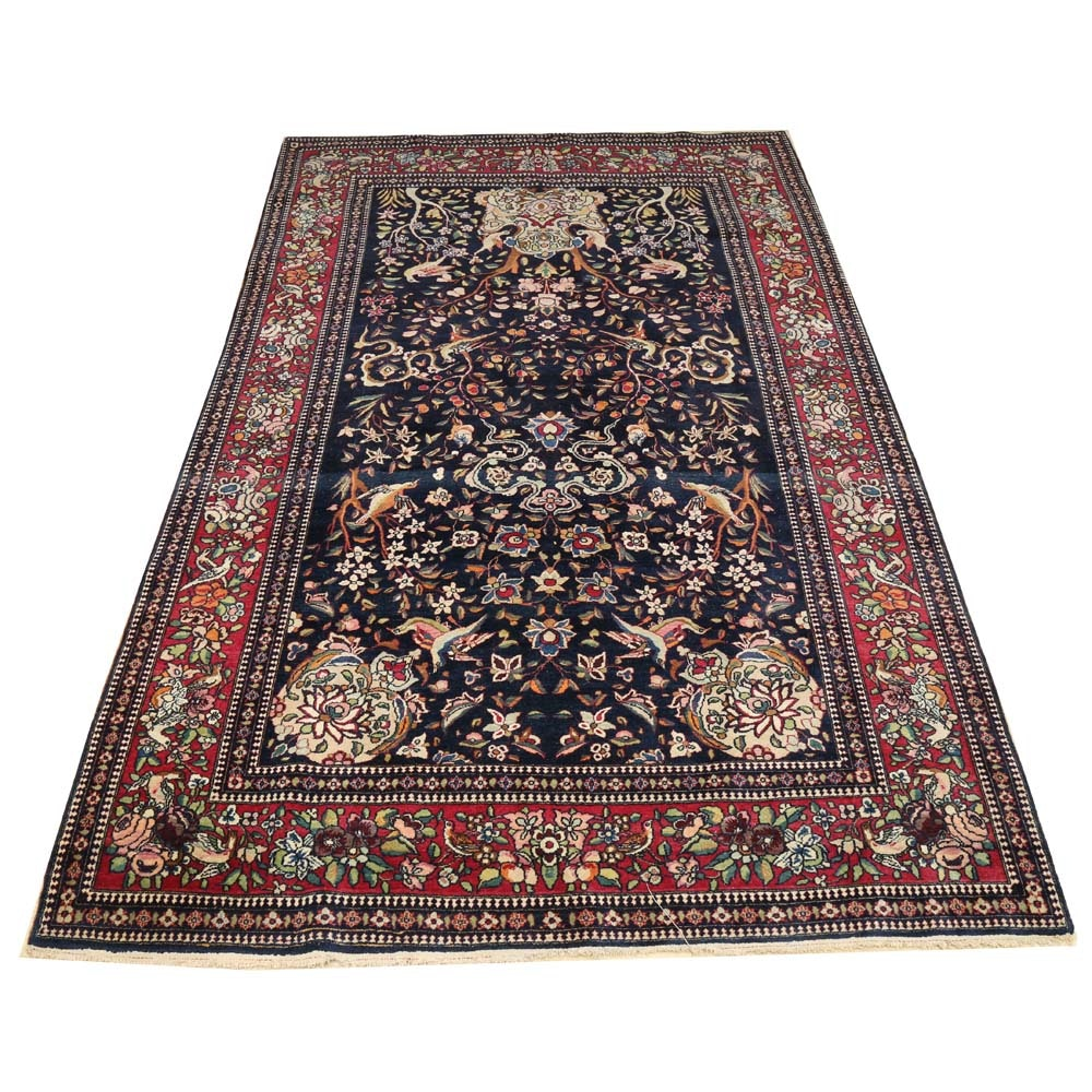 Hand-Knotted Persian Sarouk Area Rug