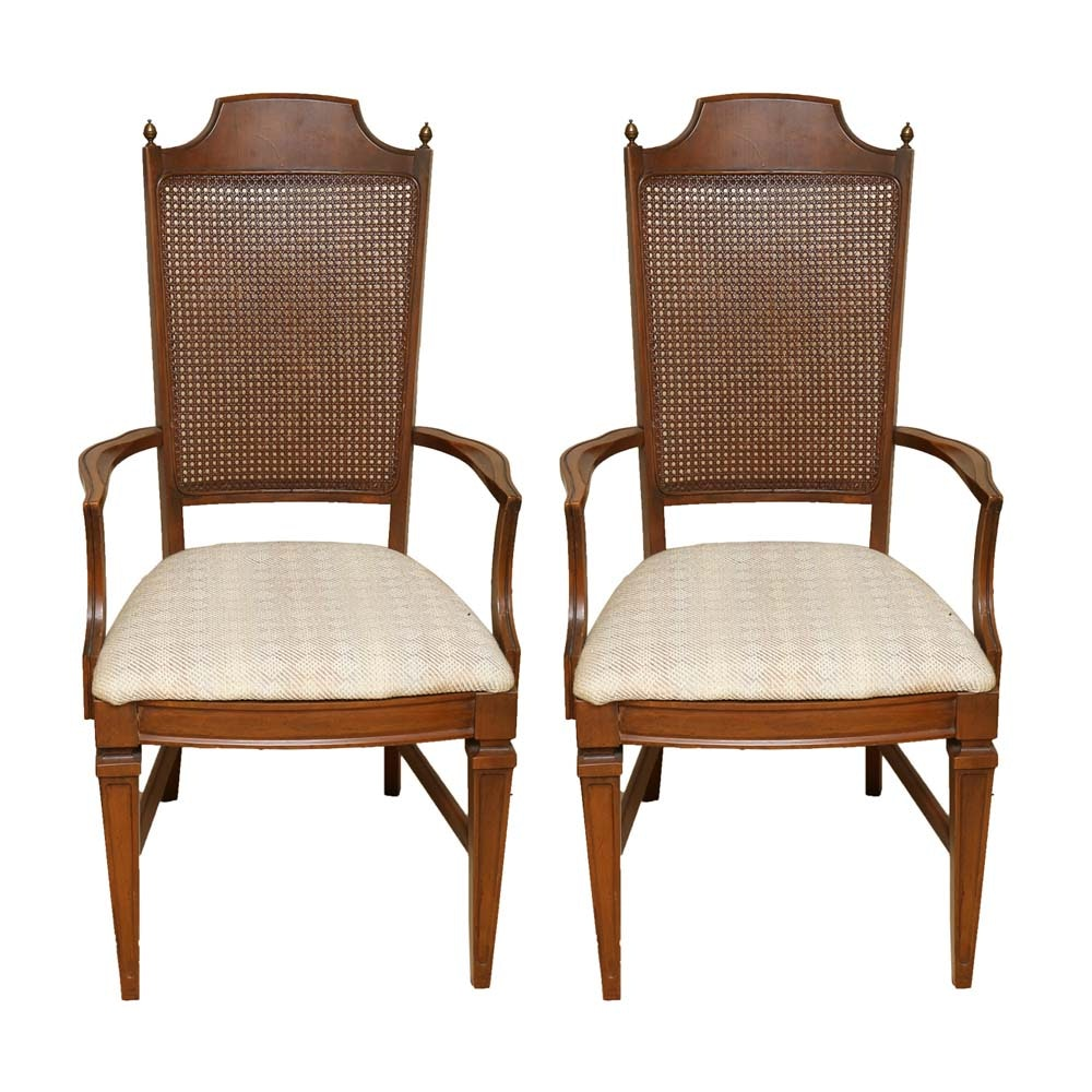 Cane Back Accent Chairs