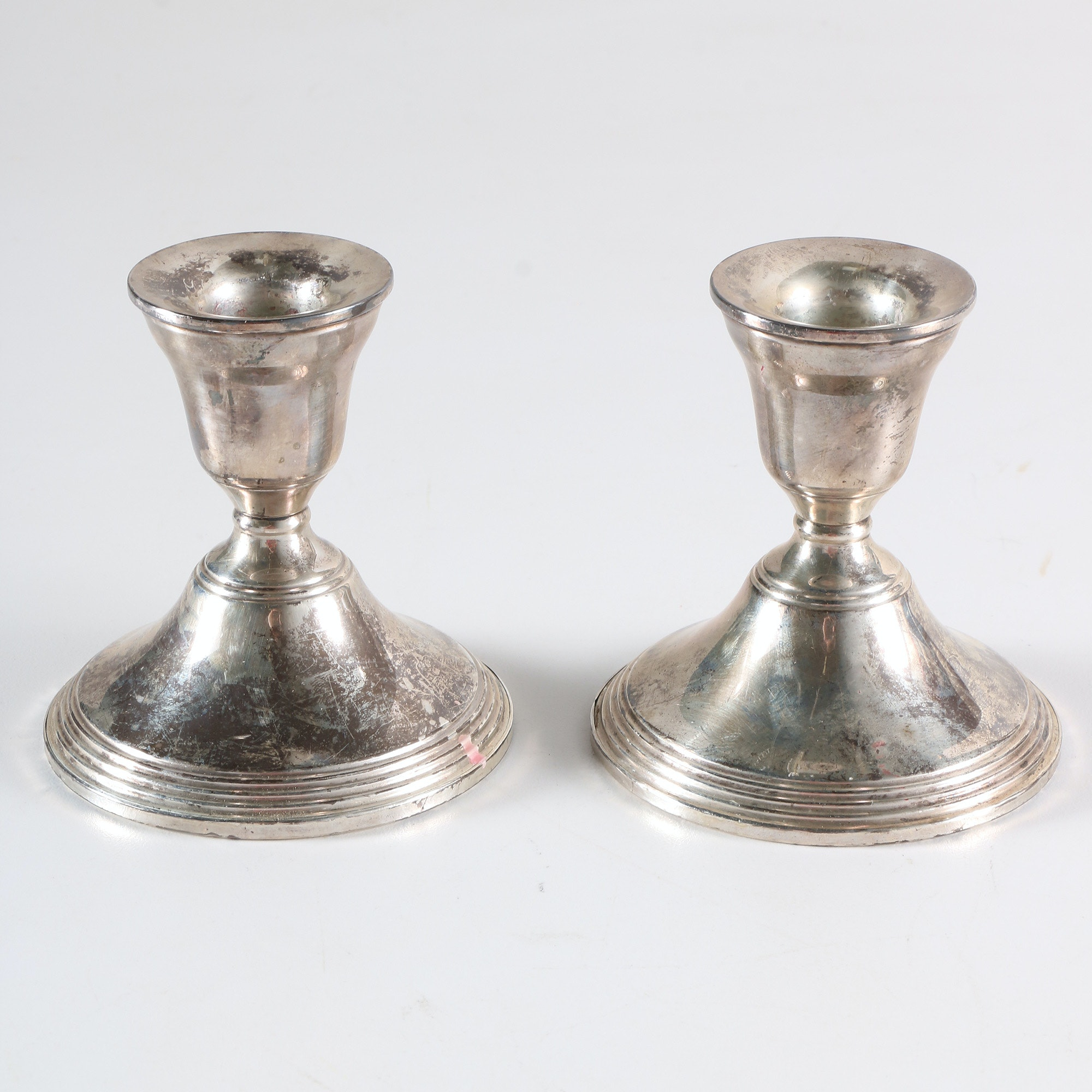 Preisner Weighted Sterling Silver Candleholders
