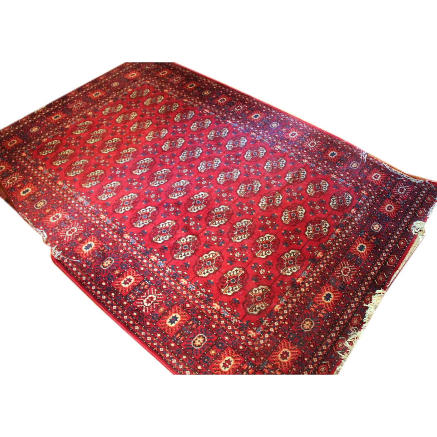 Machine Woven Bokhara-Style Area Rug