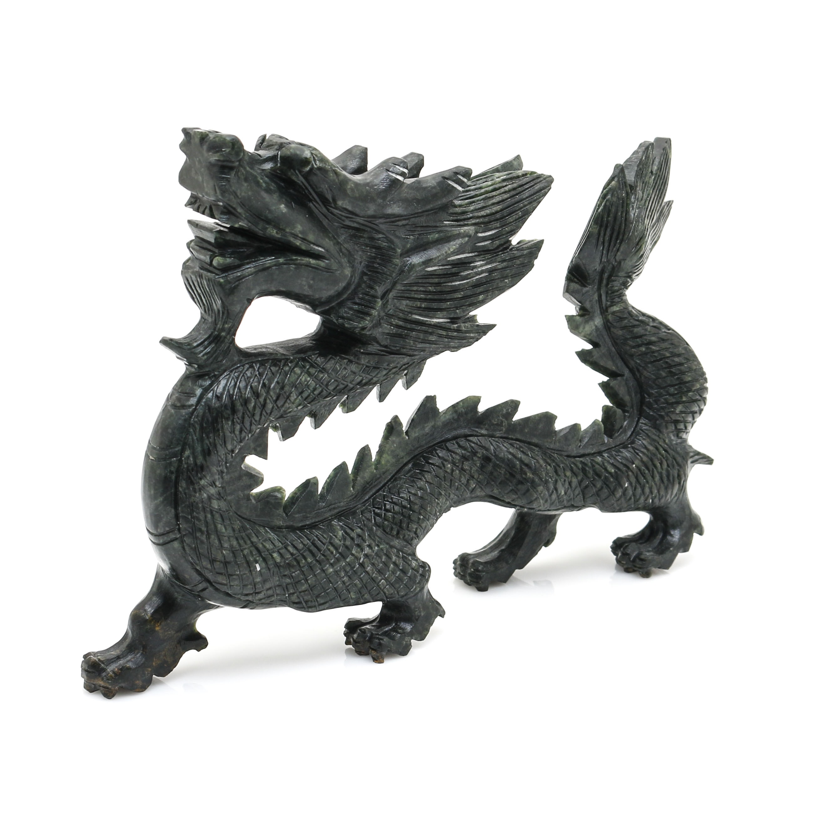 Chinese Carved Serpentine Dragon
