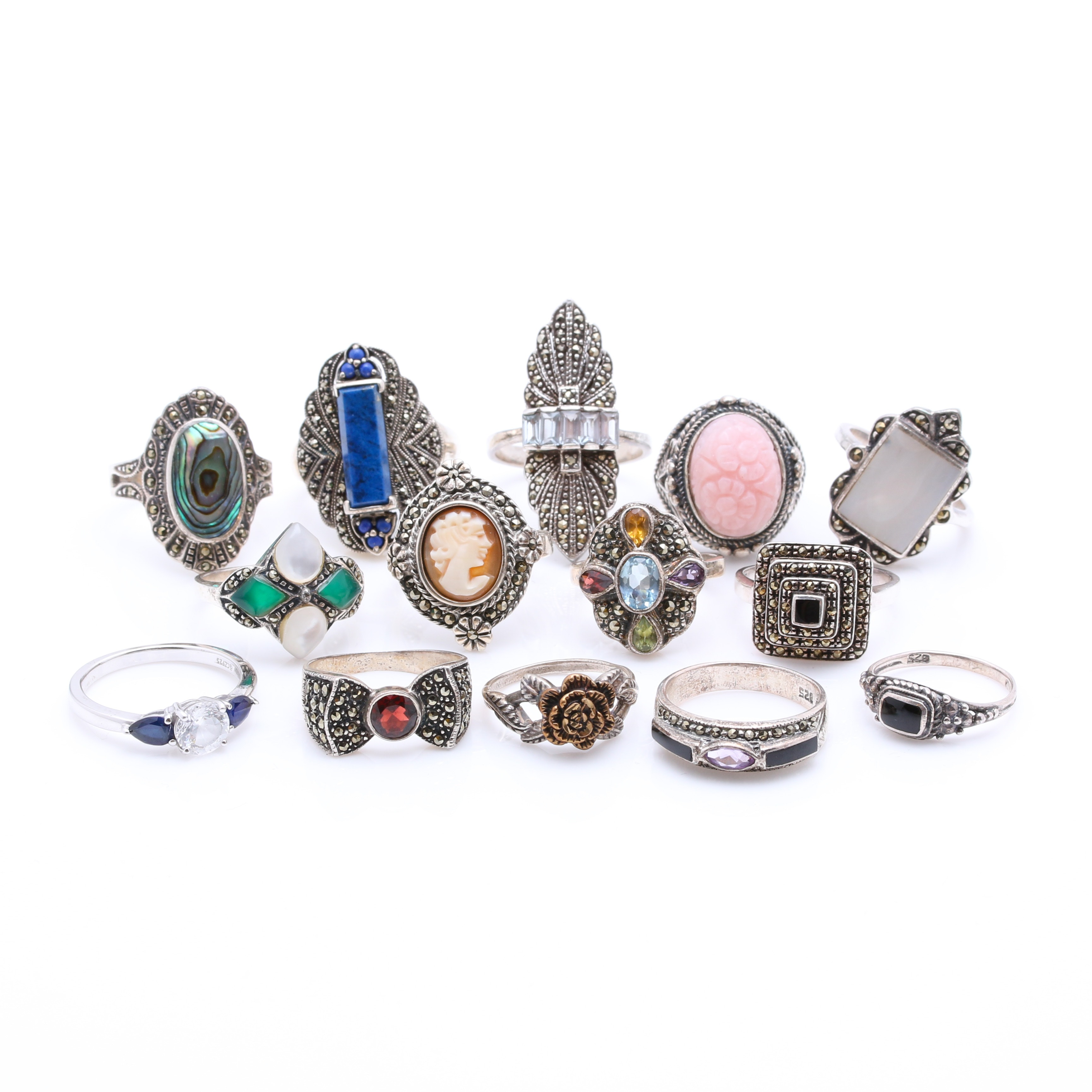 Sterling Silver and Stone Rings