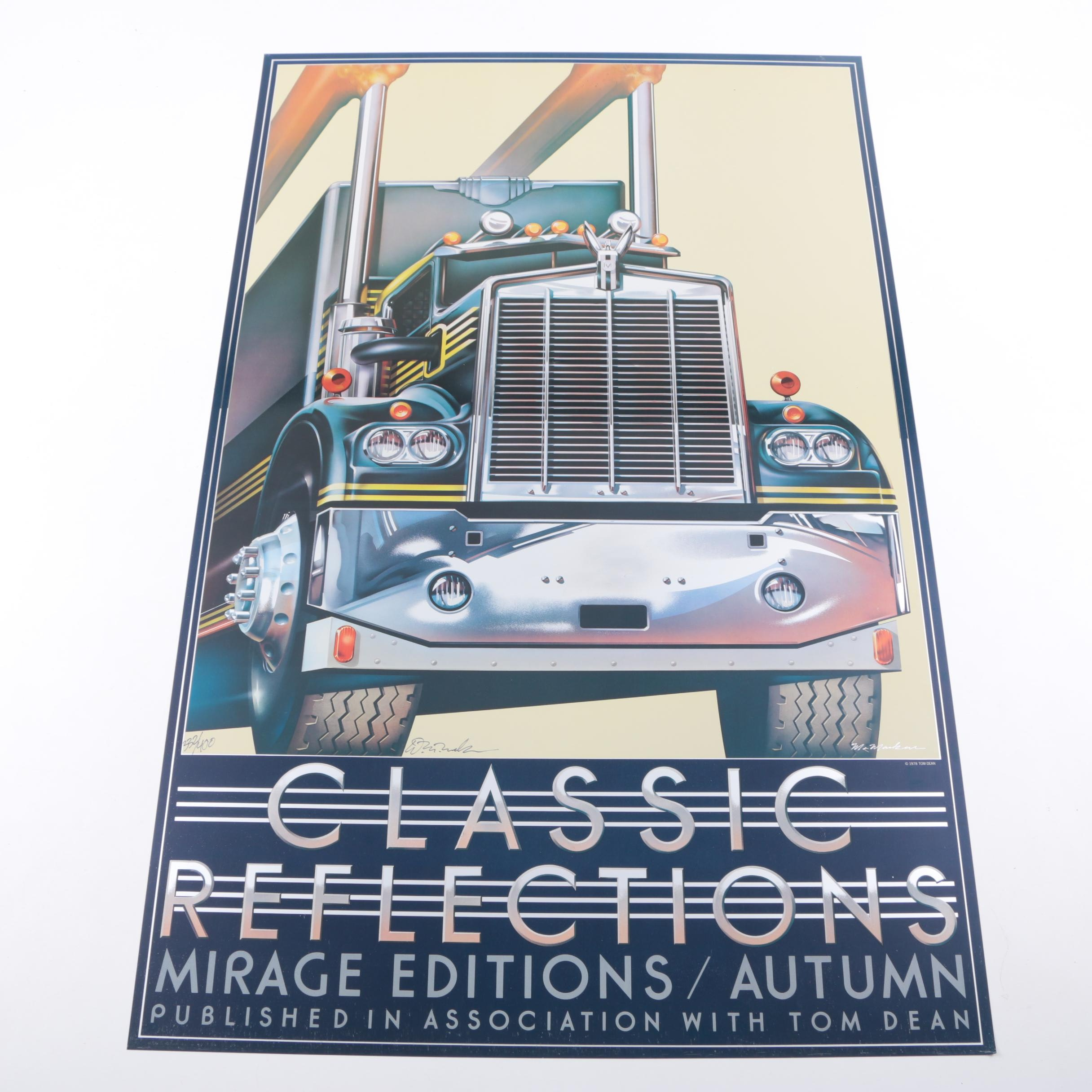 "Limited Edition Offset Lithograph Poster ""Classic Reflections"""
