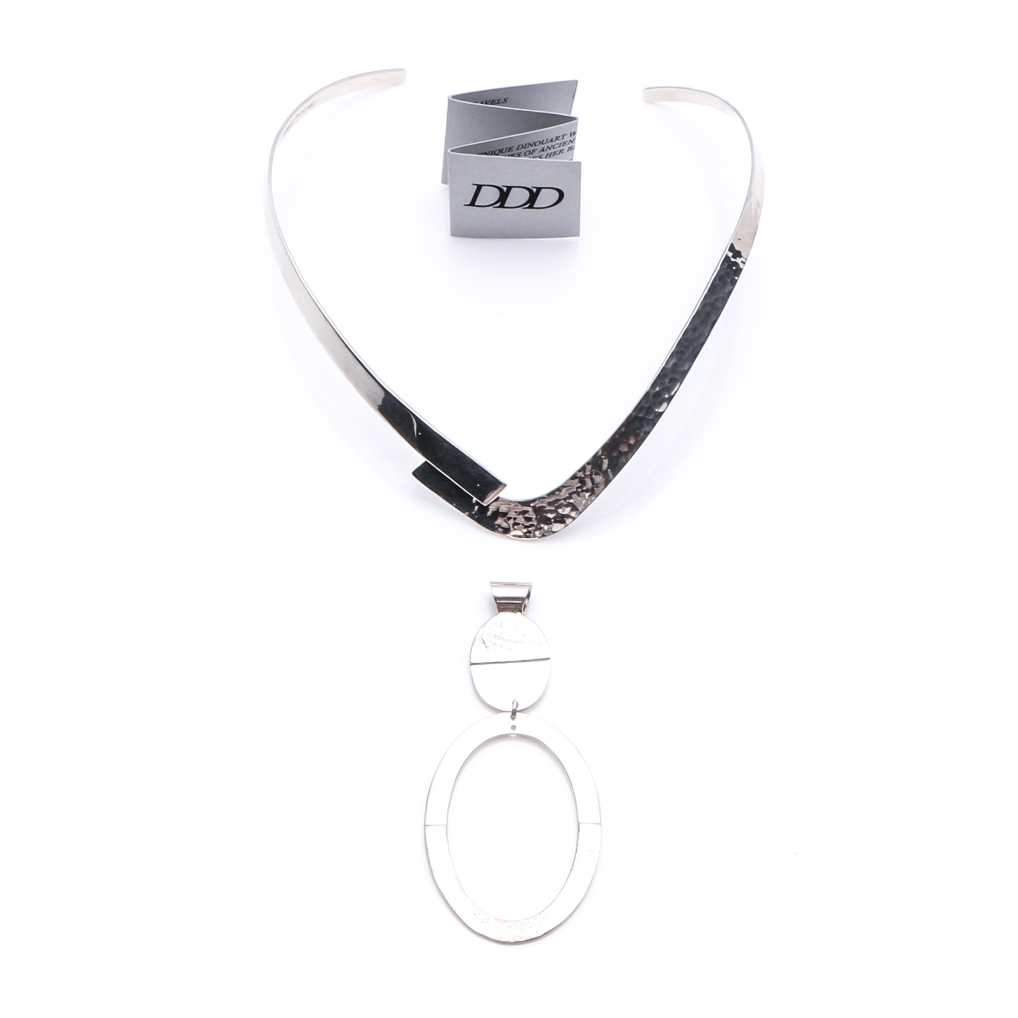 Dominique Dinouart Sterling Silver Necklace and Pendant
