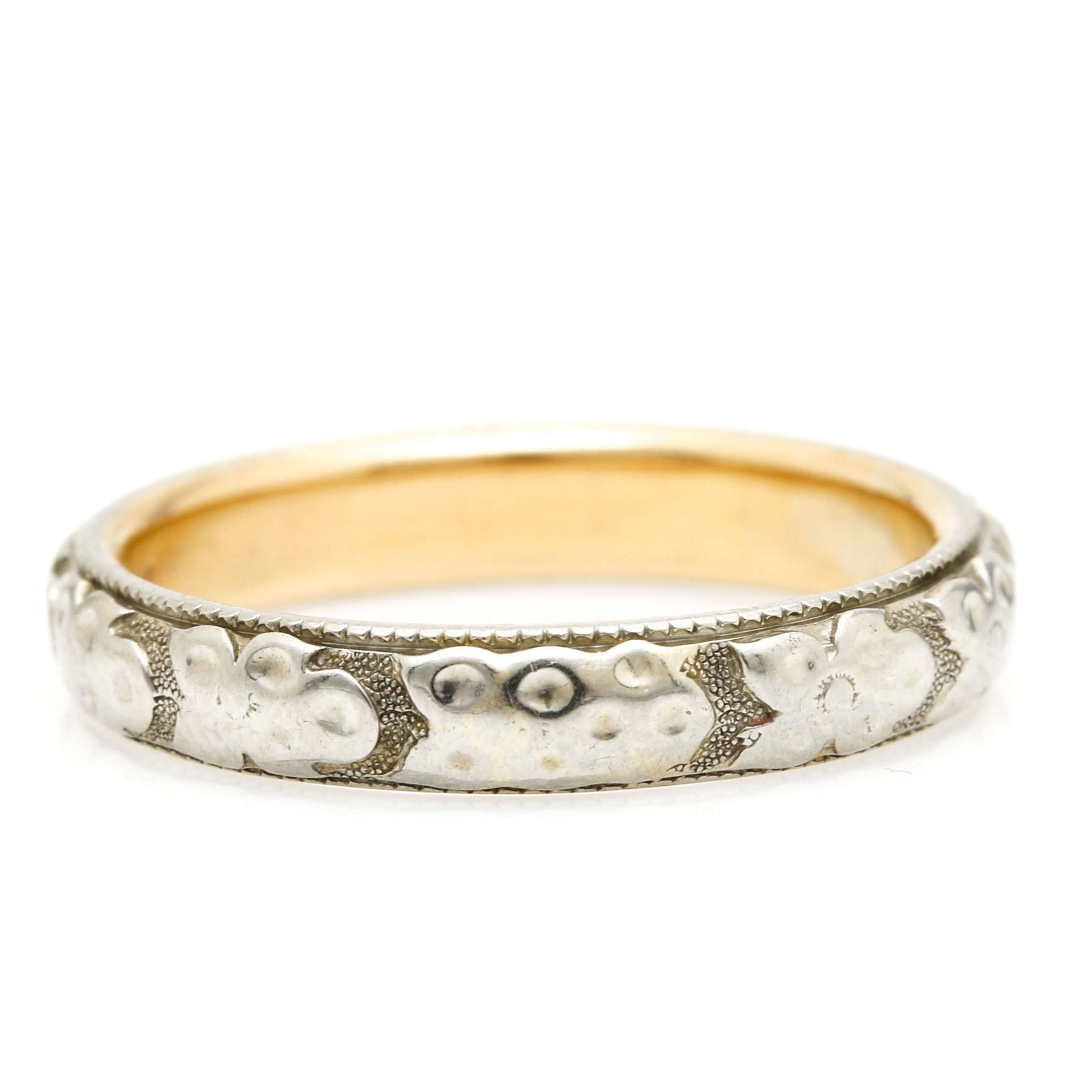 18K Two-Tone Gold Band