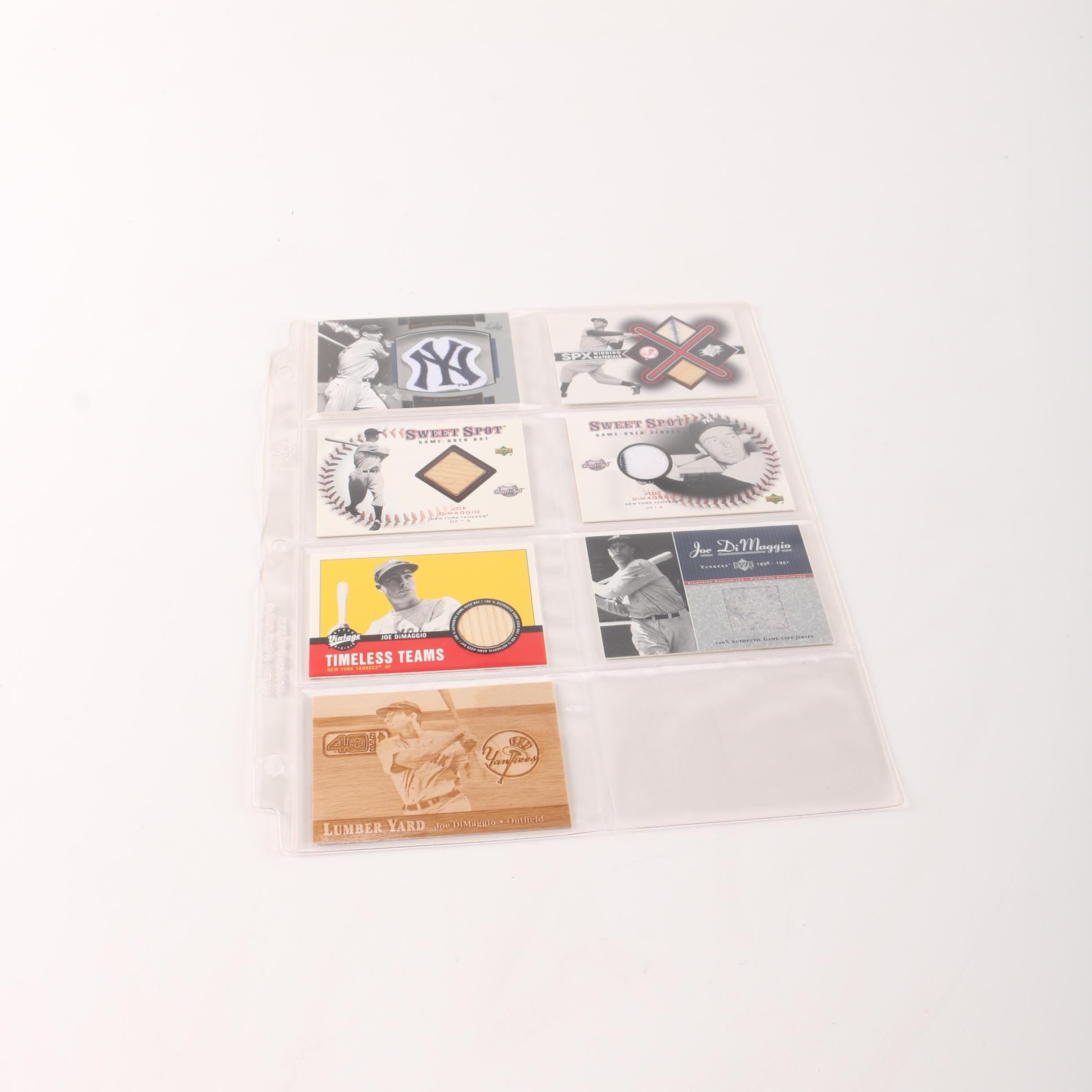 2000s Upper Deck Joe DiMaggio Baseball Cards Featuring Game-Used Materials