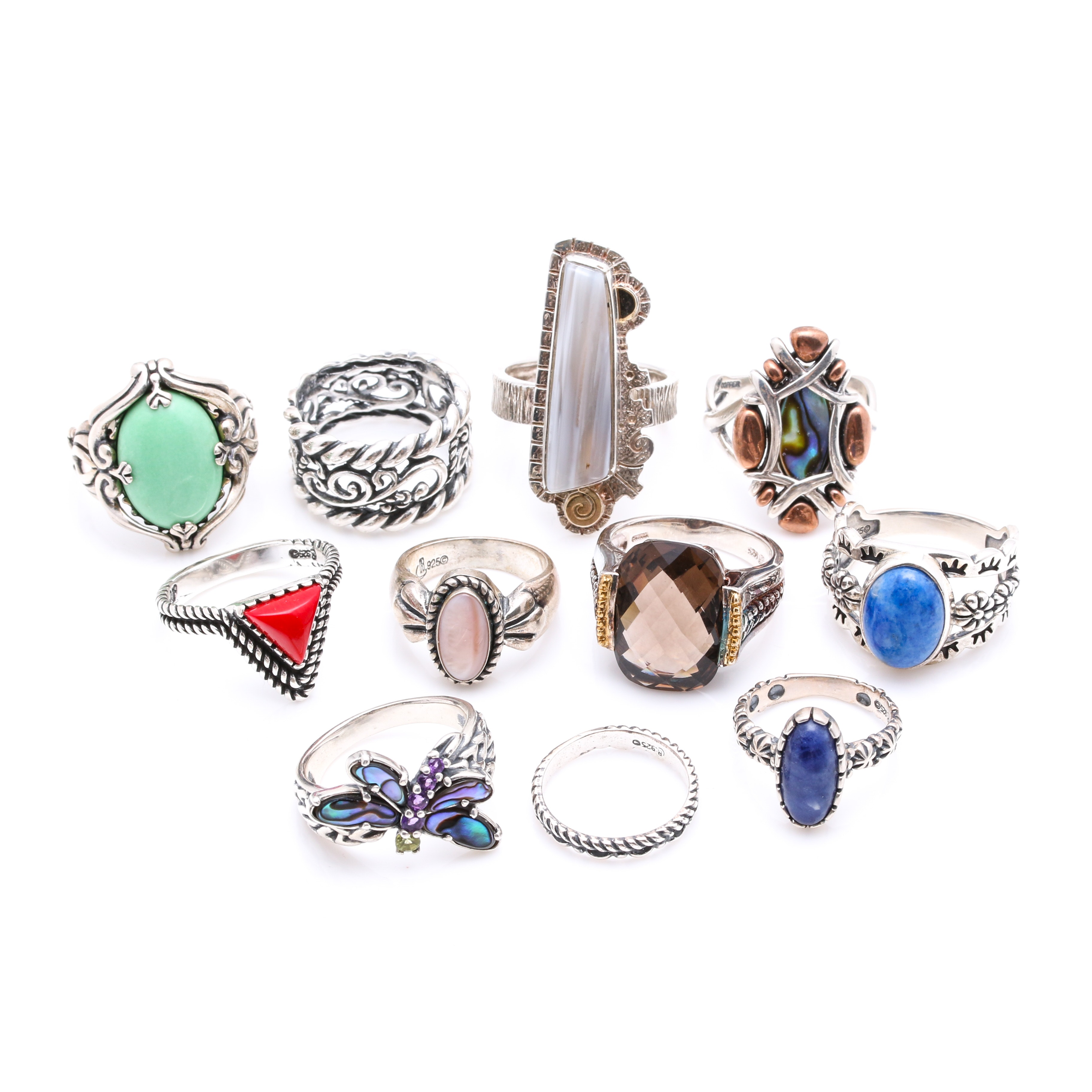 Sterling Silver Statement Rings Including Carolyn Pollack Relios Collection