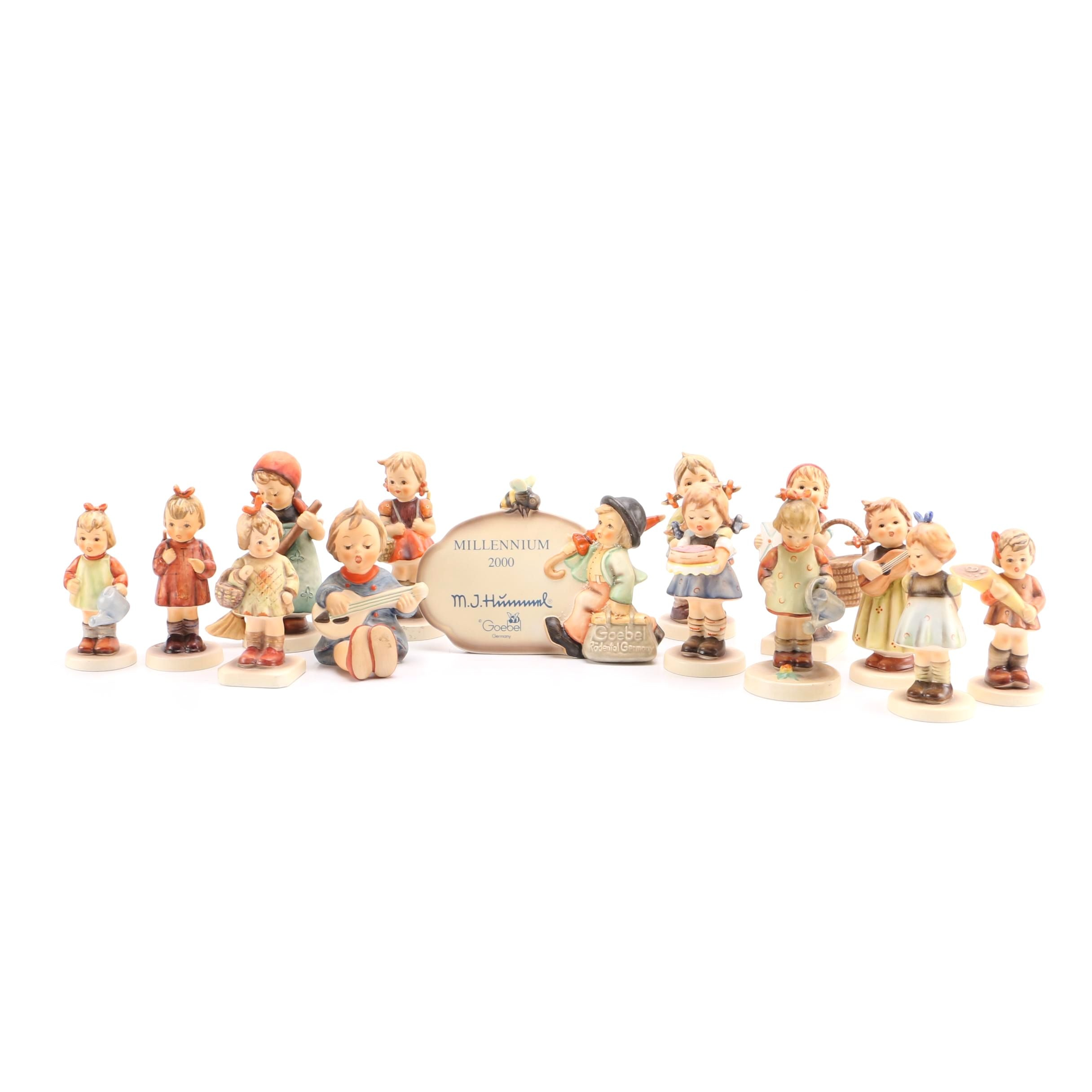 Hummel Figurine Collection With Exclusive Hummel Club Pieces