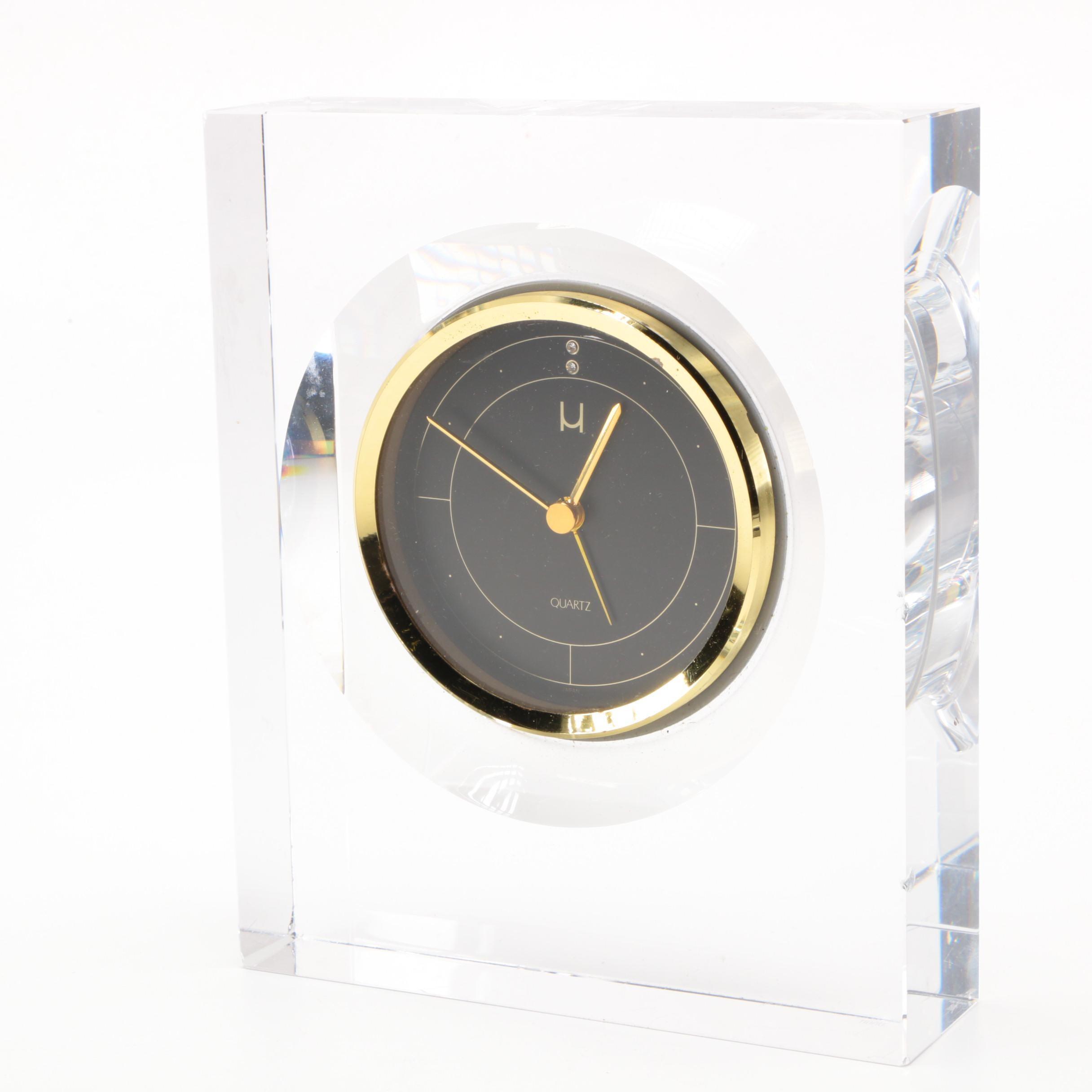 Hoya Crystal Mantel Clock