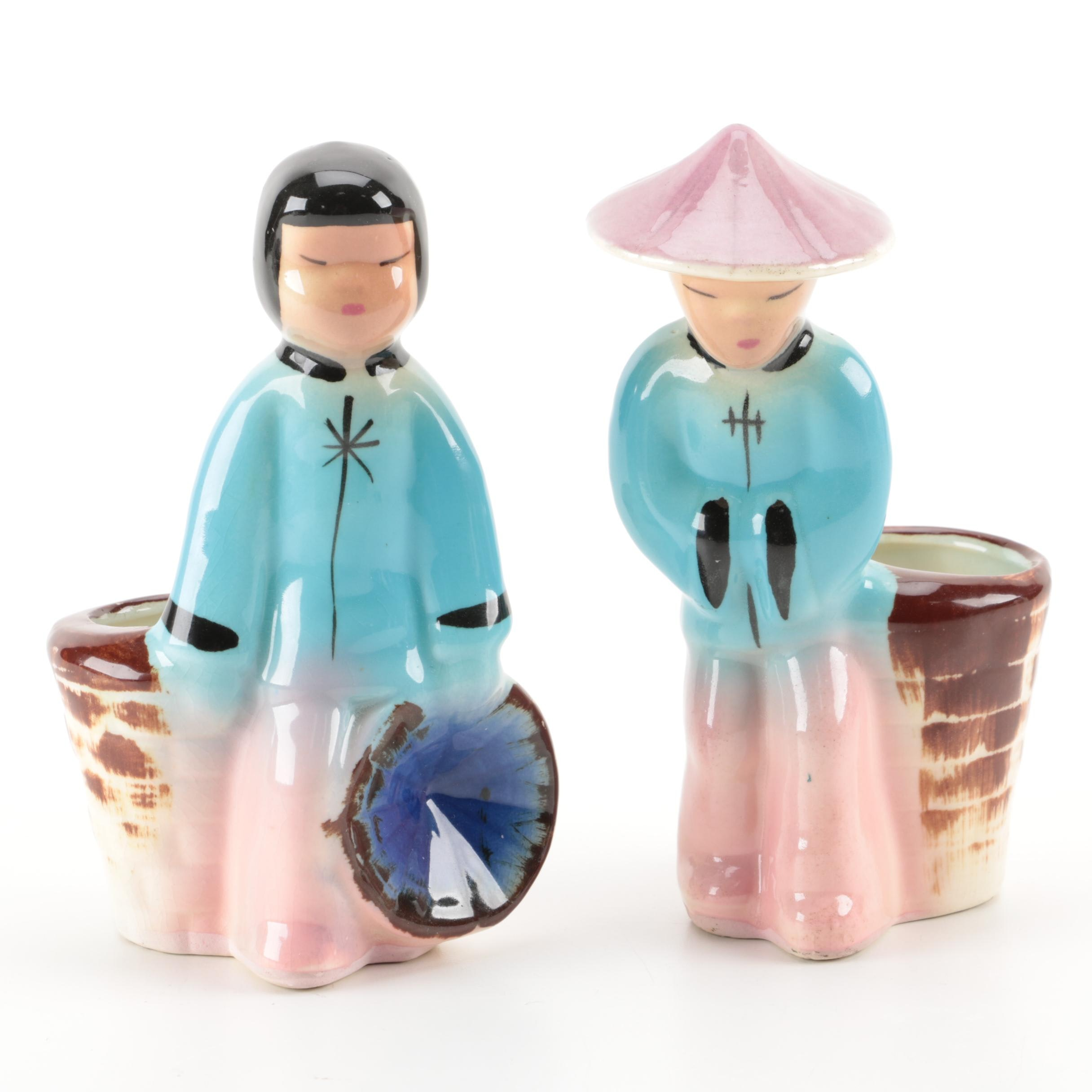 Chinese Inspired Figural Toothpick Holders