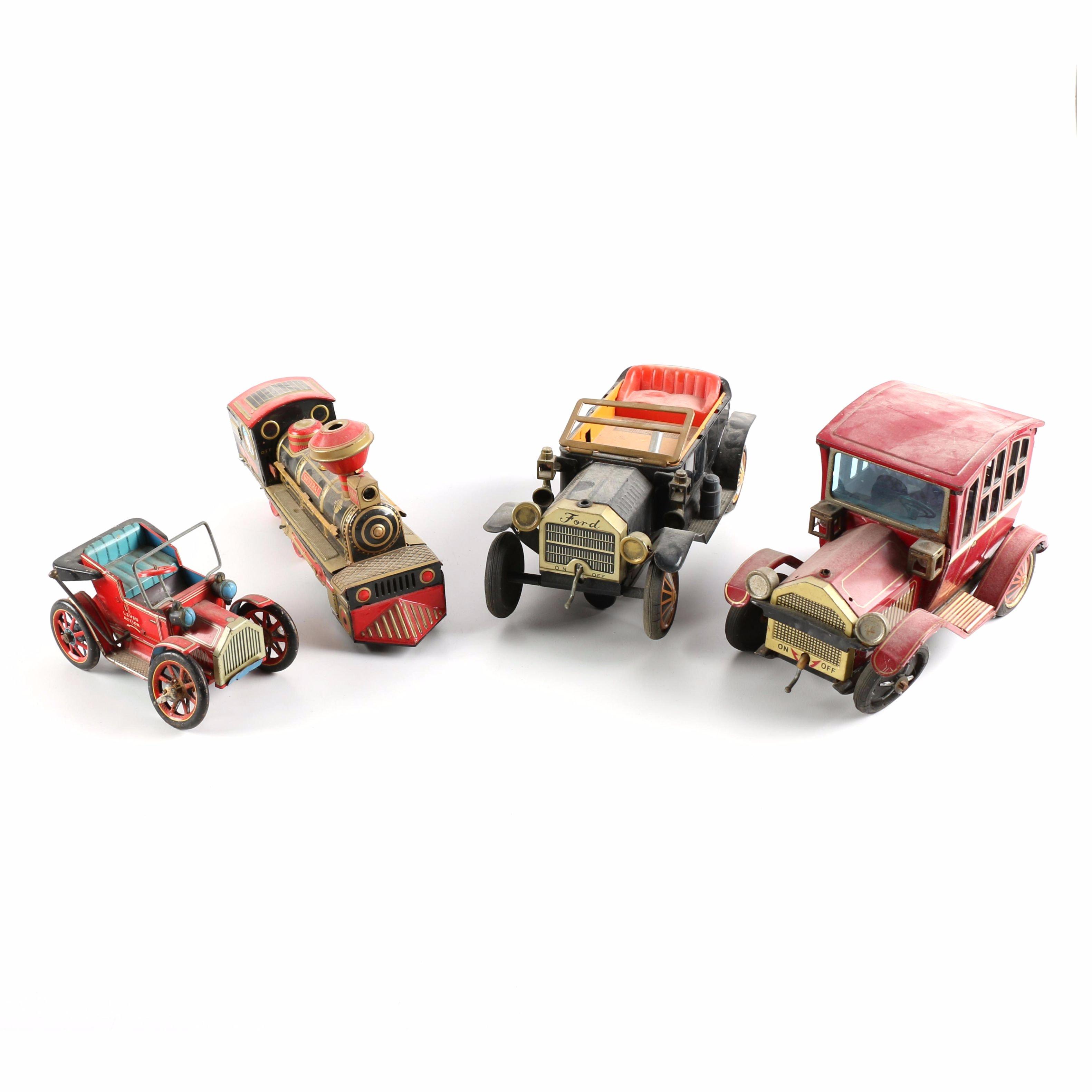 Vintage Metal Movable Vehicle Toys