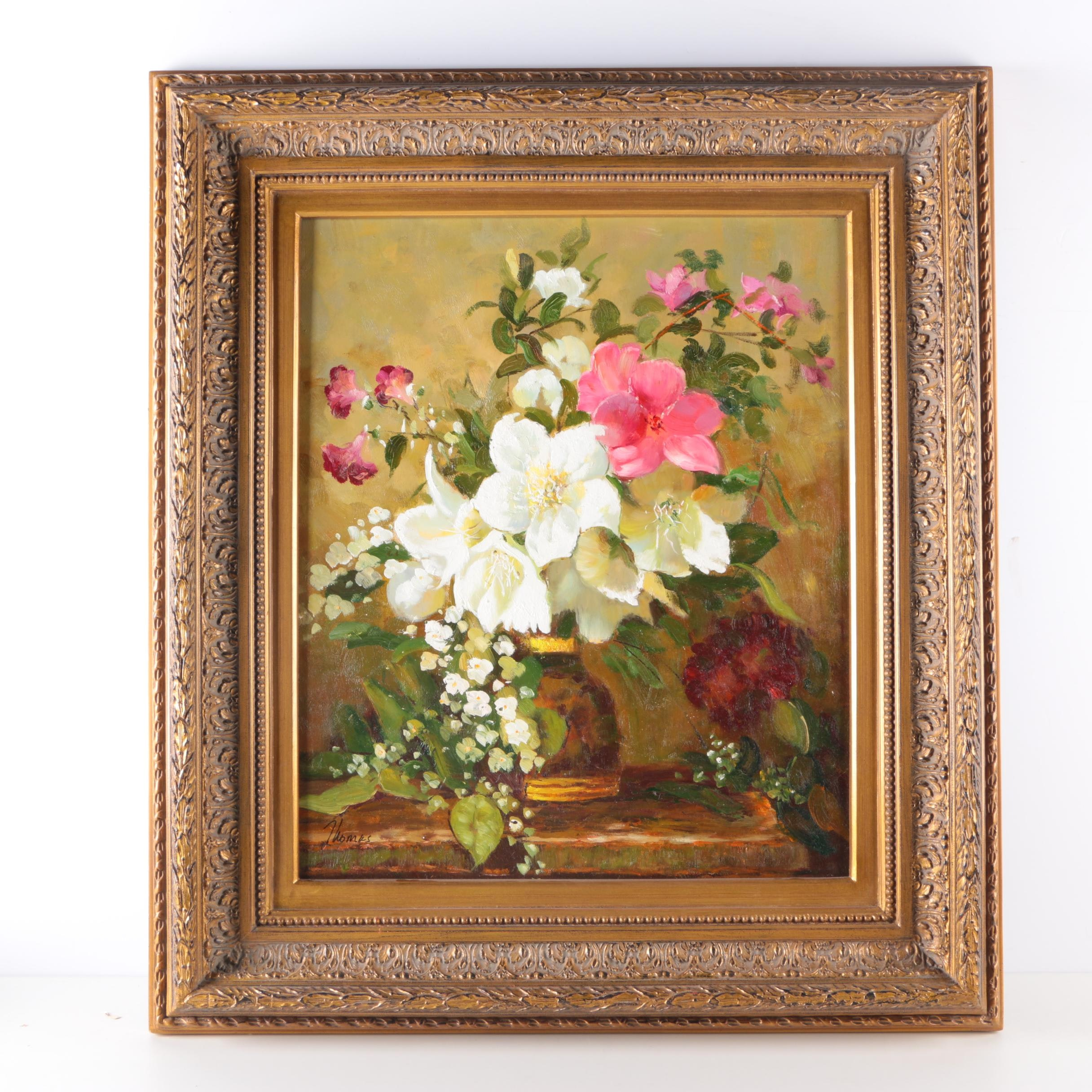 Thomas Oil Painting on Canvas Floral Still Life