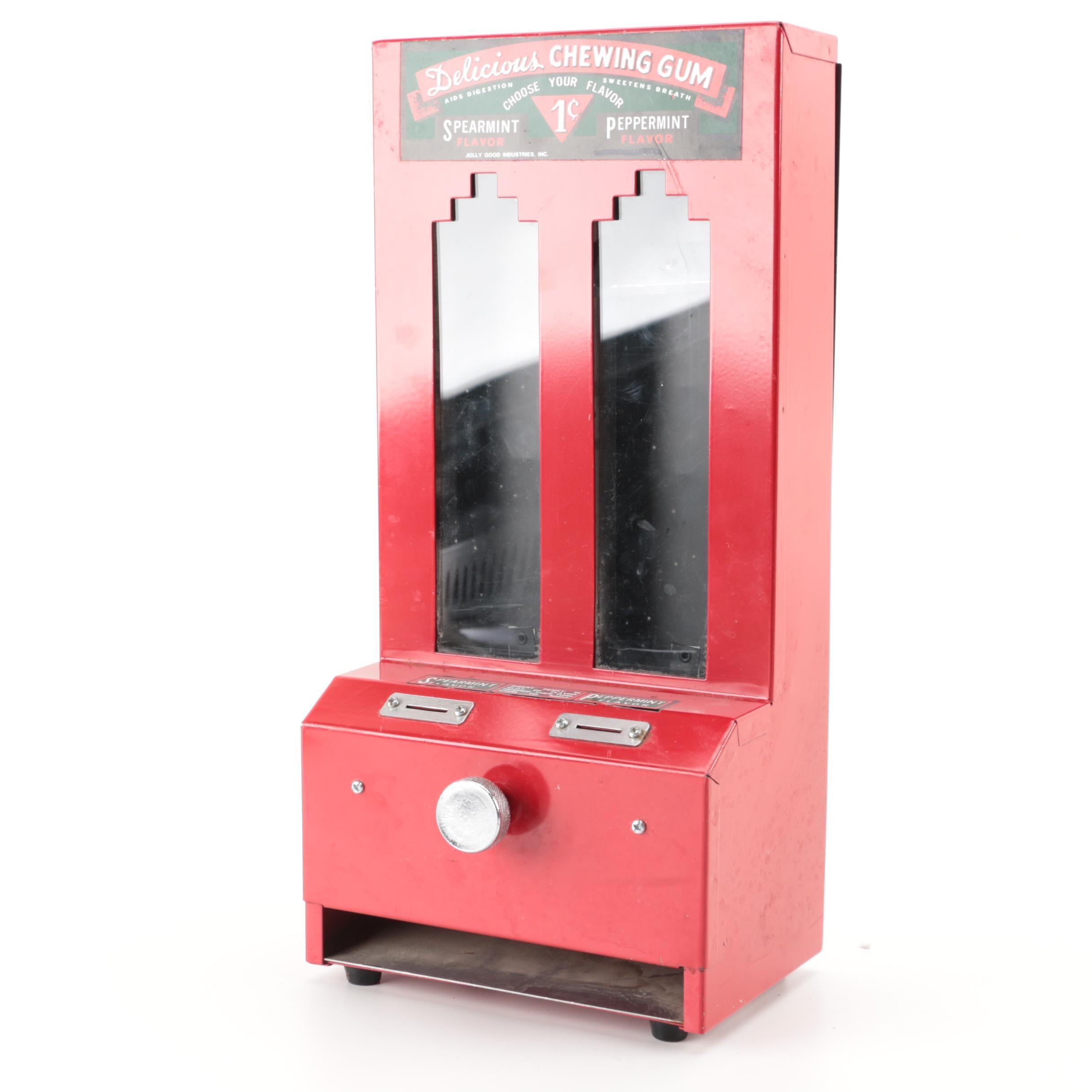 Vintage Metal Miniature Chewing Gum Dispenser