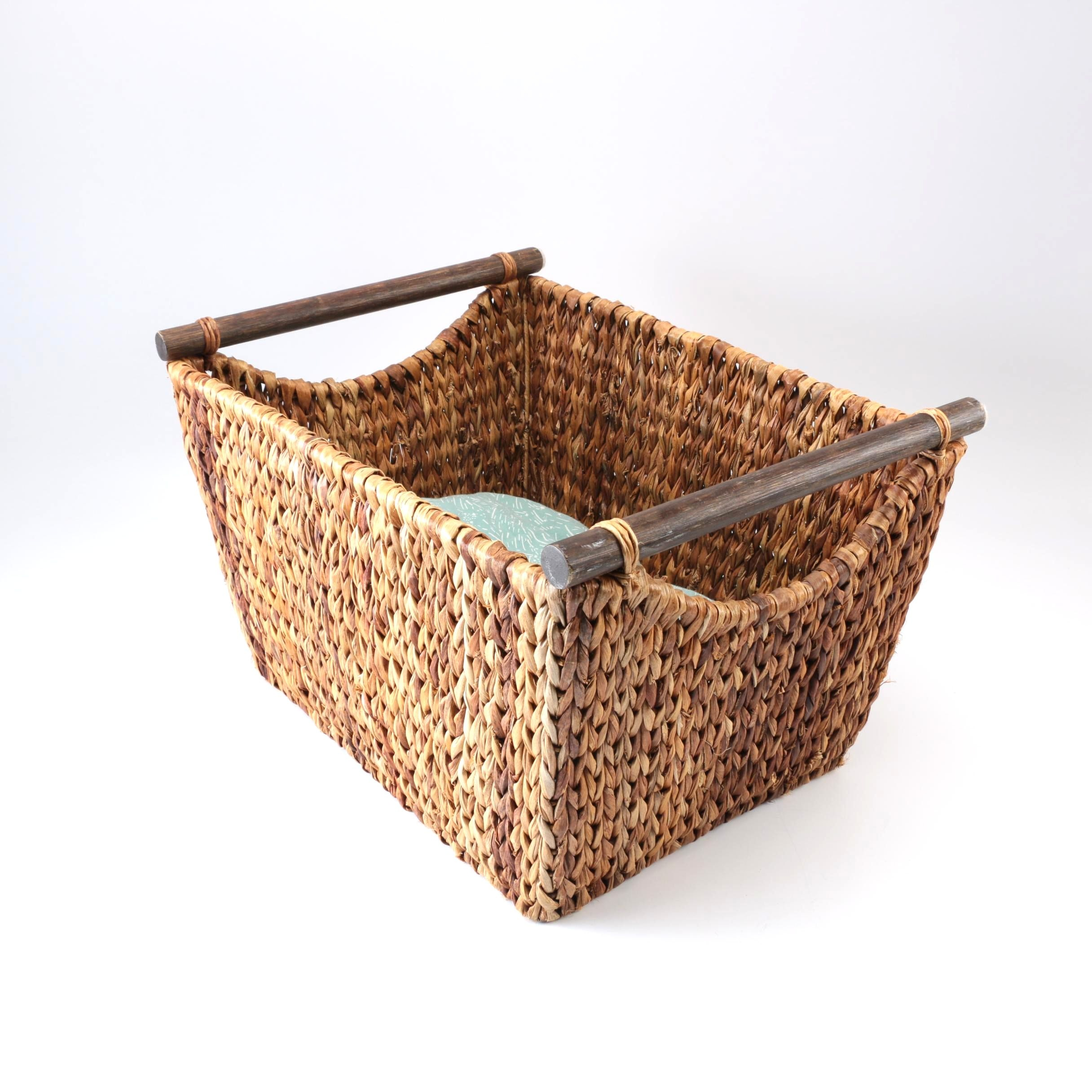 Woven Basket and Blanket