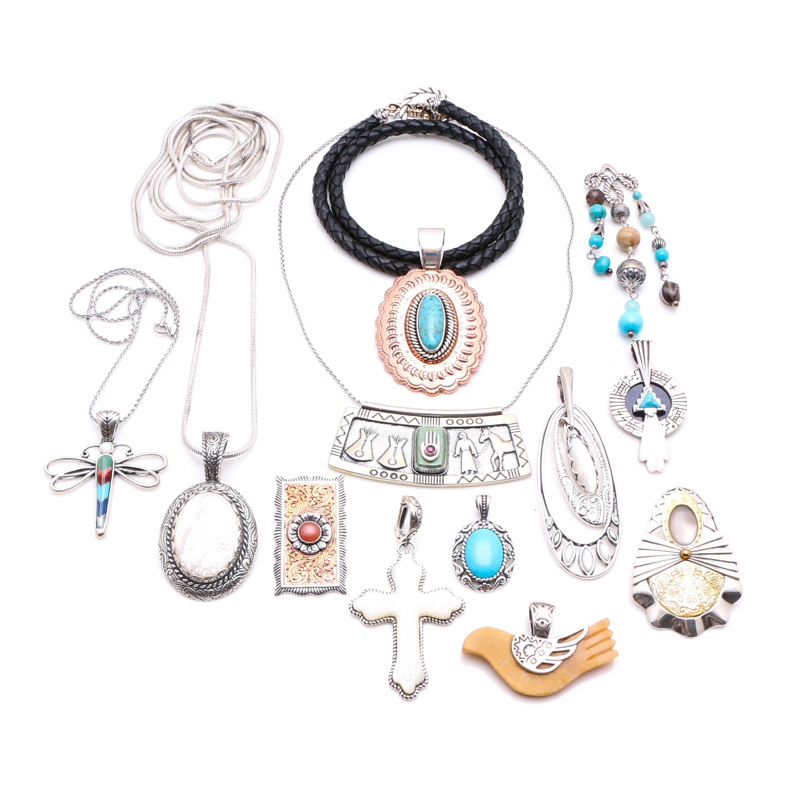 Carolyn Pollack Relios Collection of Sterling Silver Jewelry featuring Turquoise and Lapis