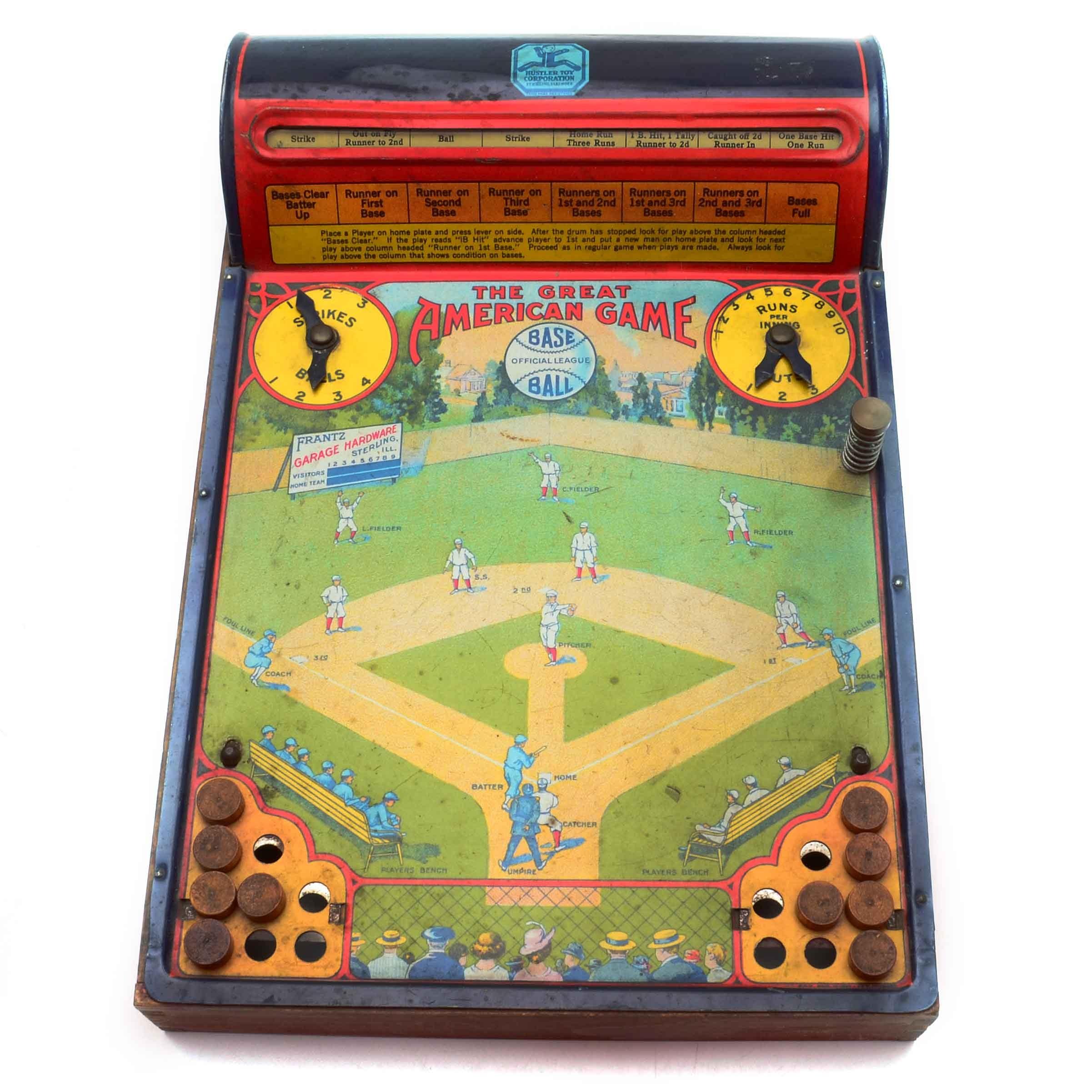 "1920s ""The American"" Baseball Game By Hustler Toys"