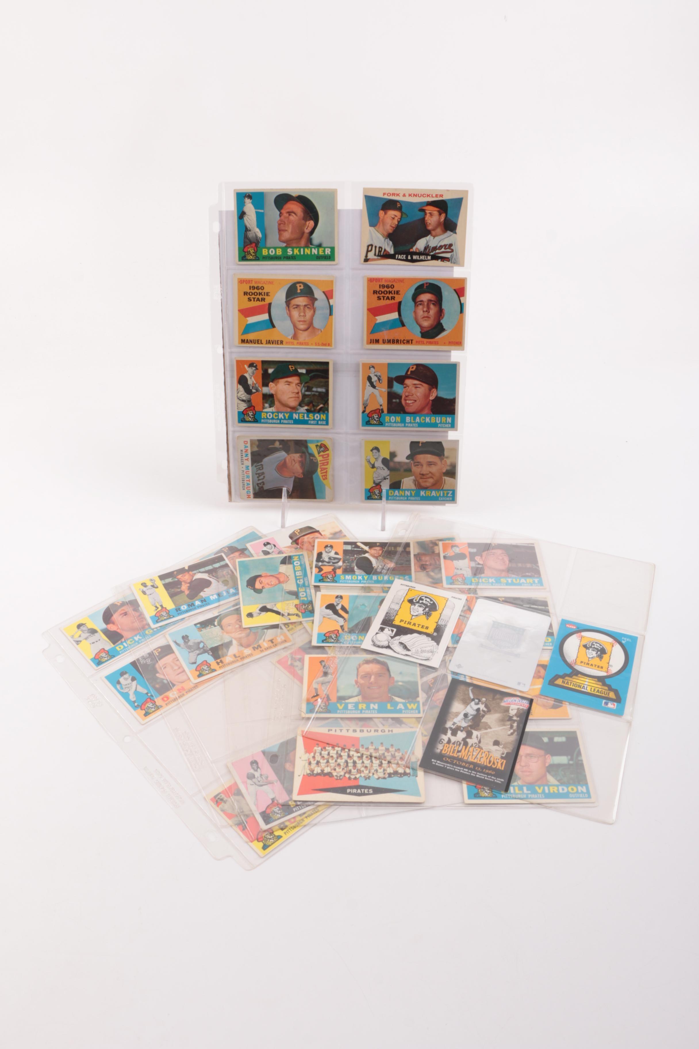 Baseball Card Collection Featuring Pittsburgh Pirates Circa 1960