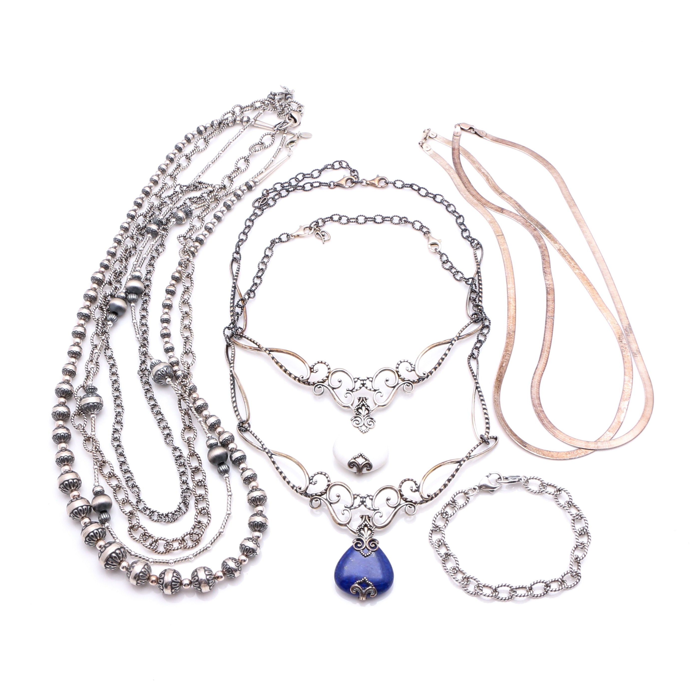 Assortment of Sterling Jewelry including Carolyn Pollack