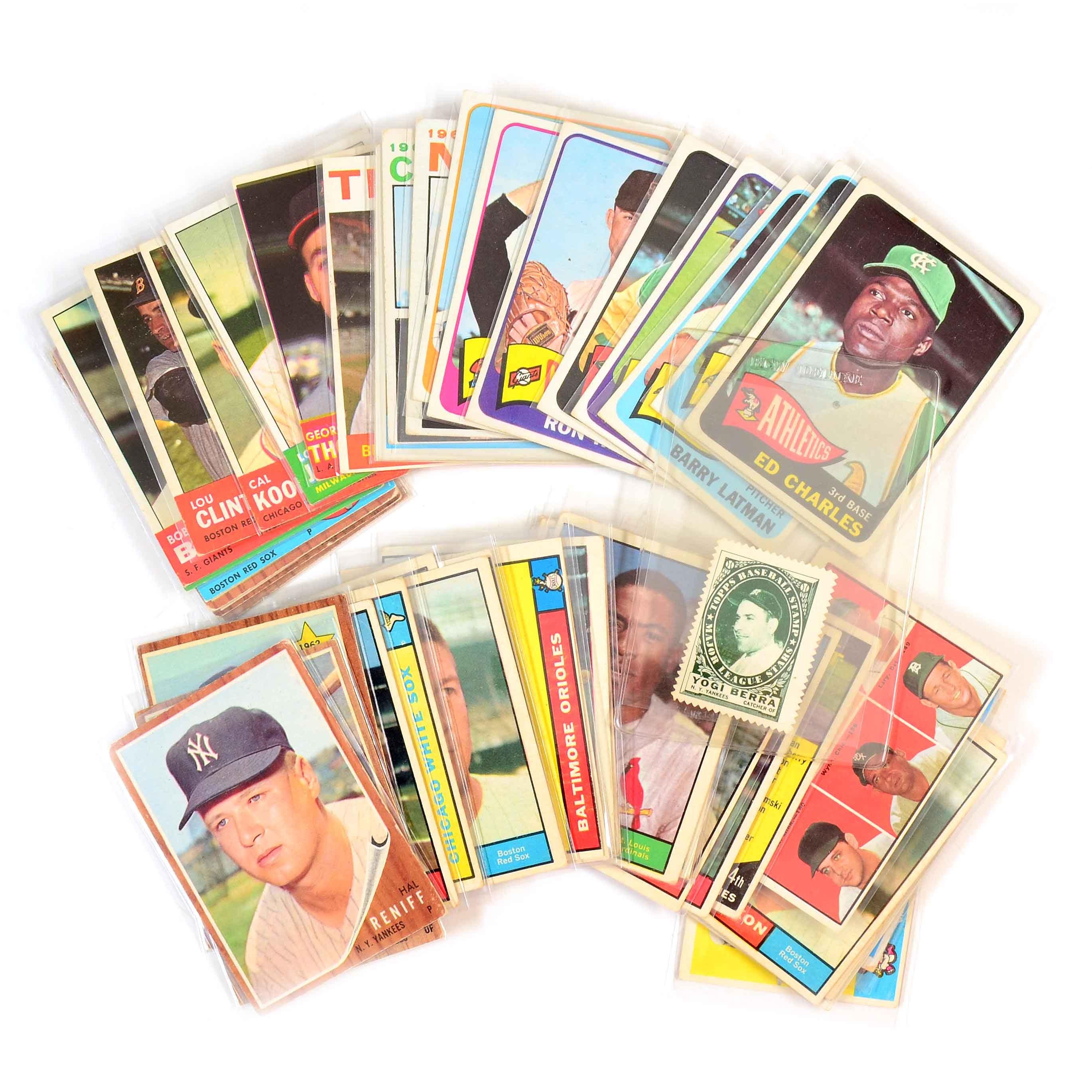 1960s Topps Baseball Cards and '61 Berra Stamp