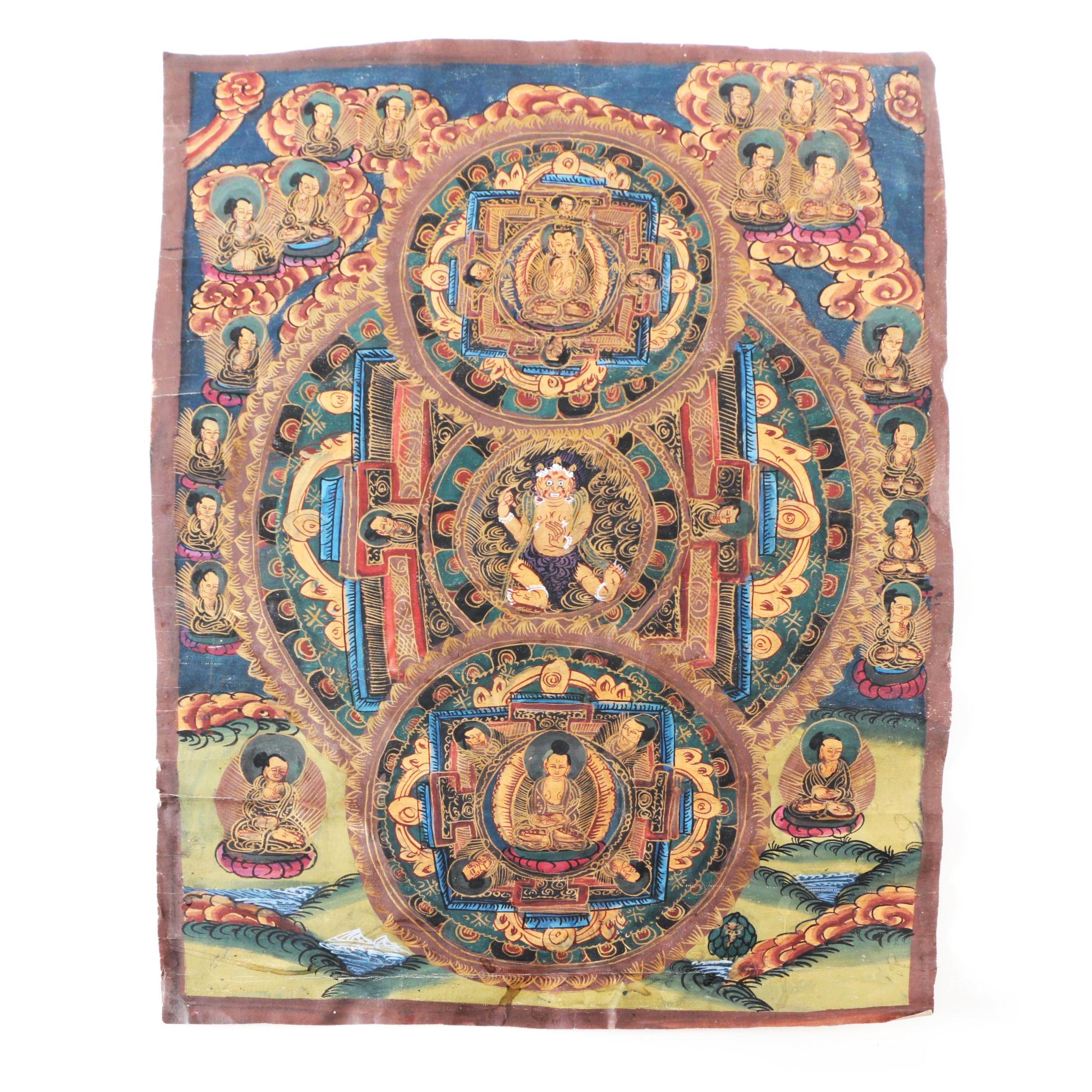Tibetan Thangka Mandala