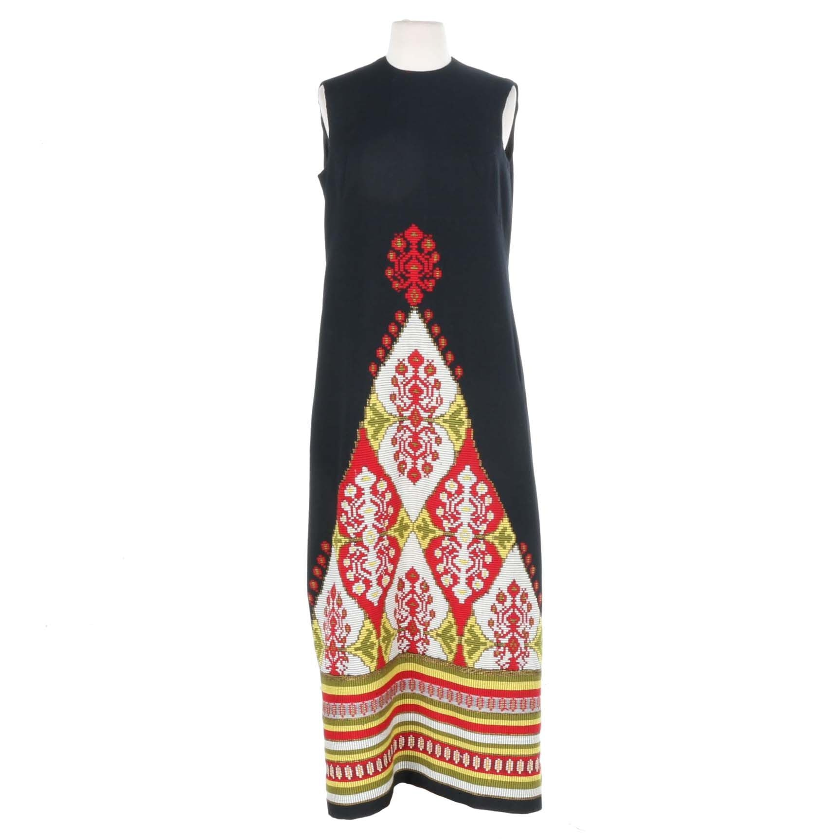 Vintage Levantis Embroidered Maxi Dress
