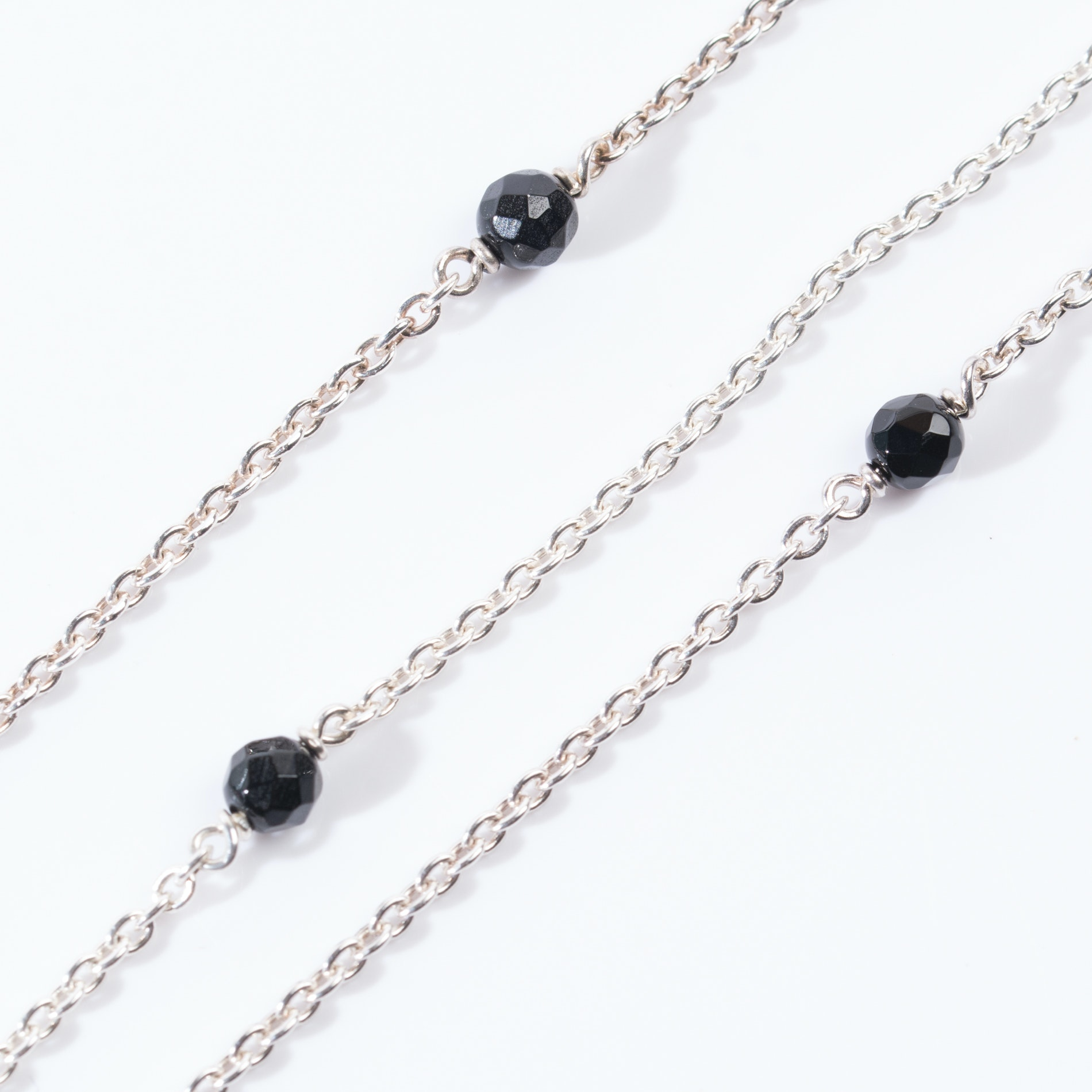 Pandora Sterling Silver Three-Strand Lariat Necklace