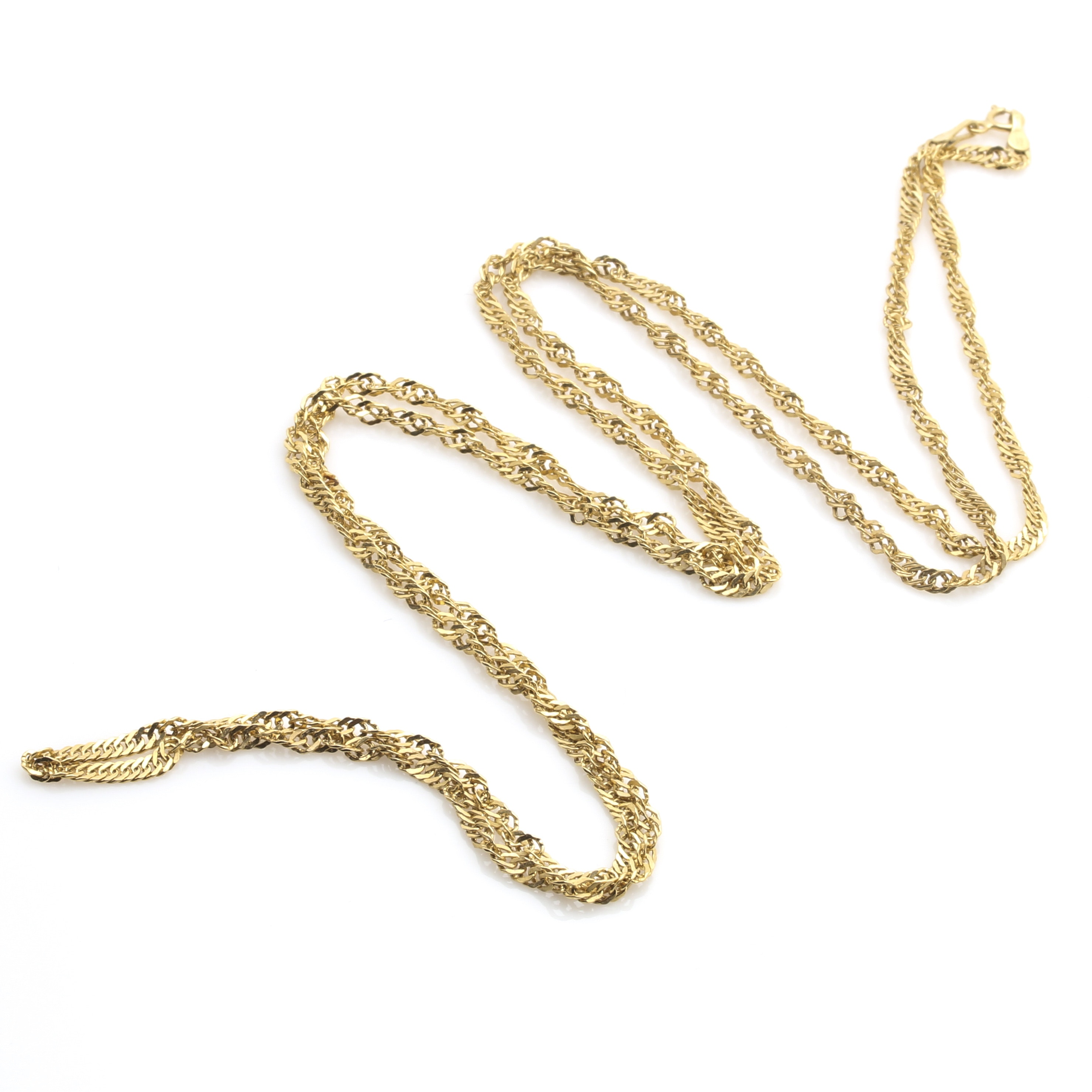 14K Yellow Gold Milor Twisted Curb Link Necklace
