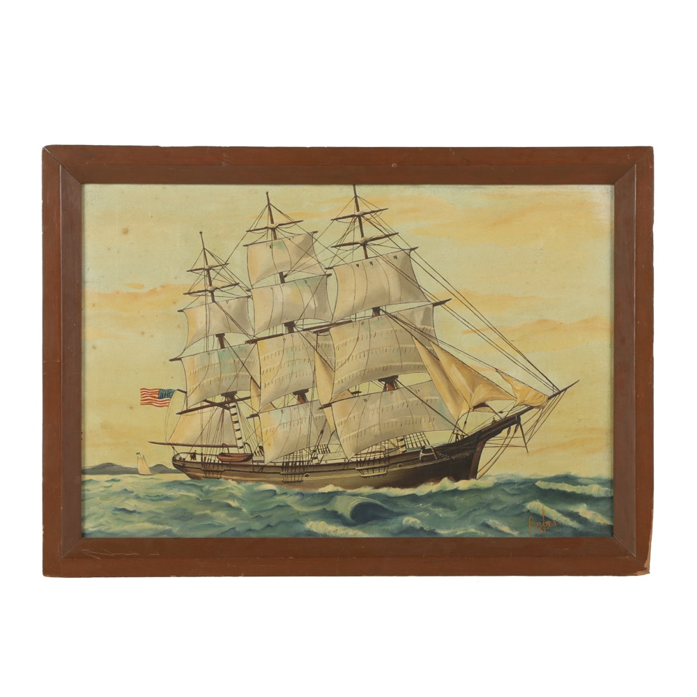 Forbes Oil Painting on Canvas Nautical Scene