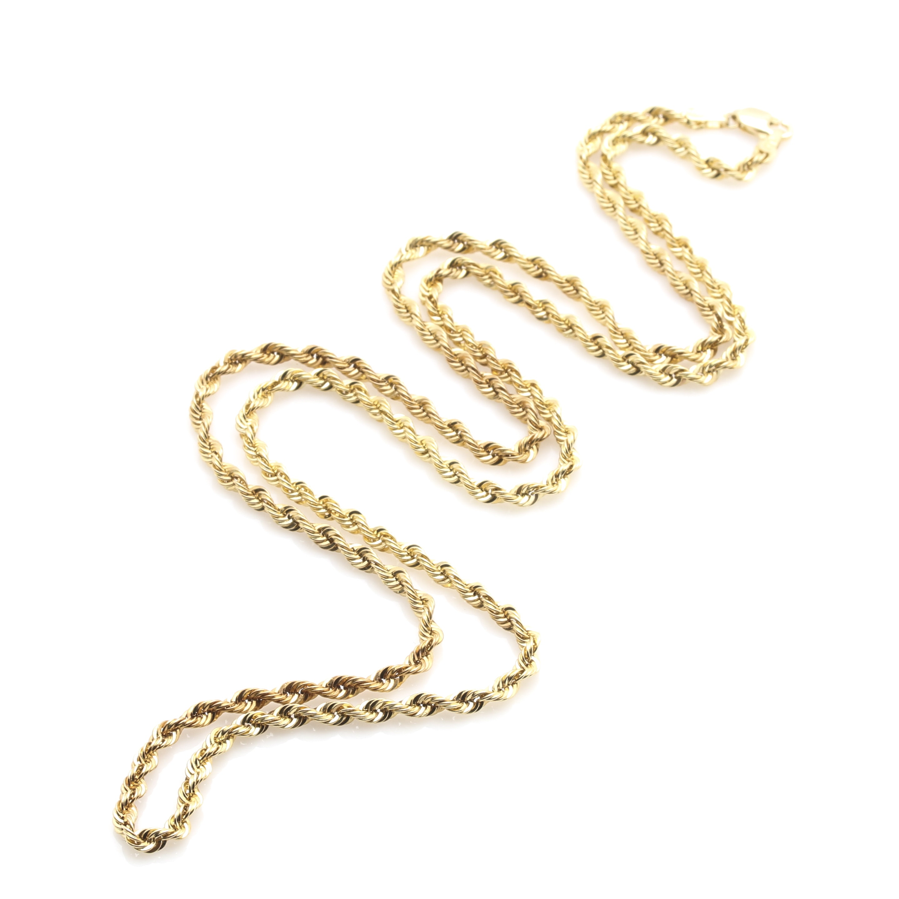 14K Yellow Gold French Rope Neck Chain
