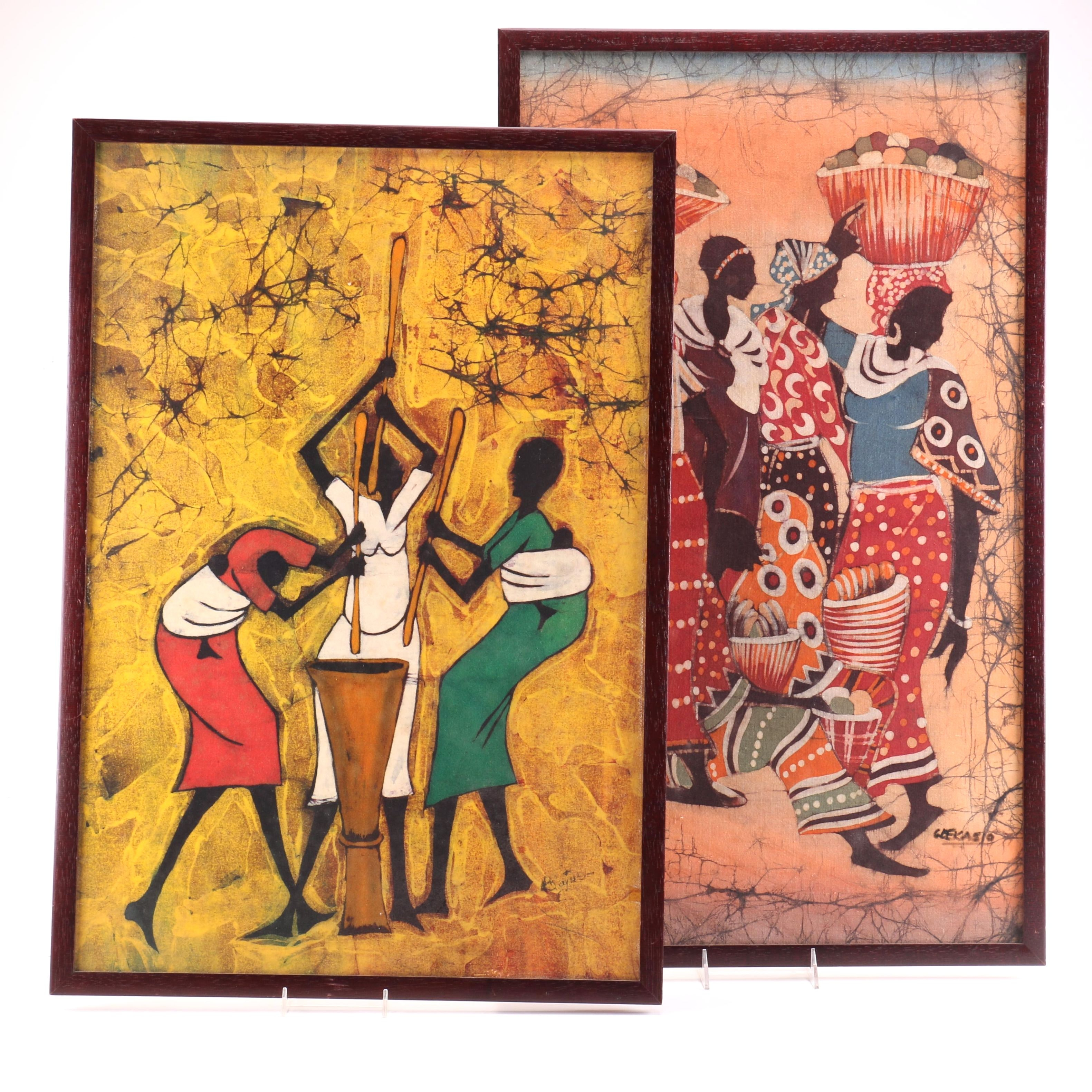 African Style Batiks of Gatherings