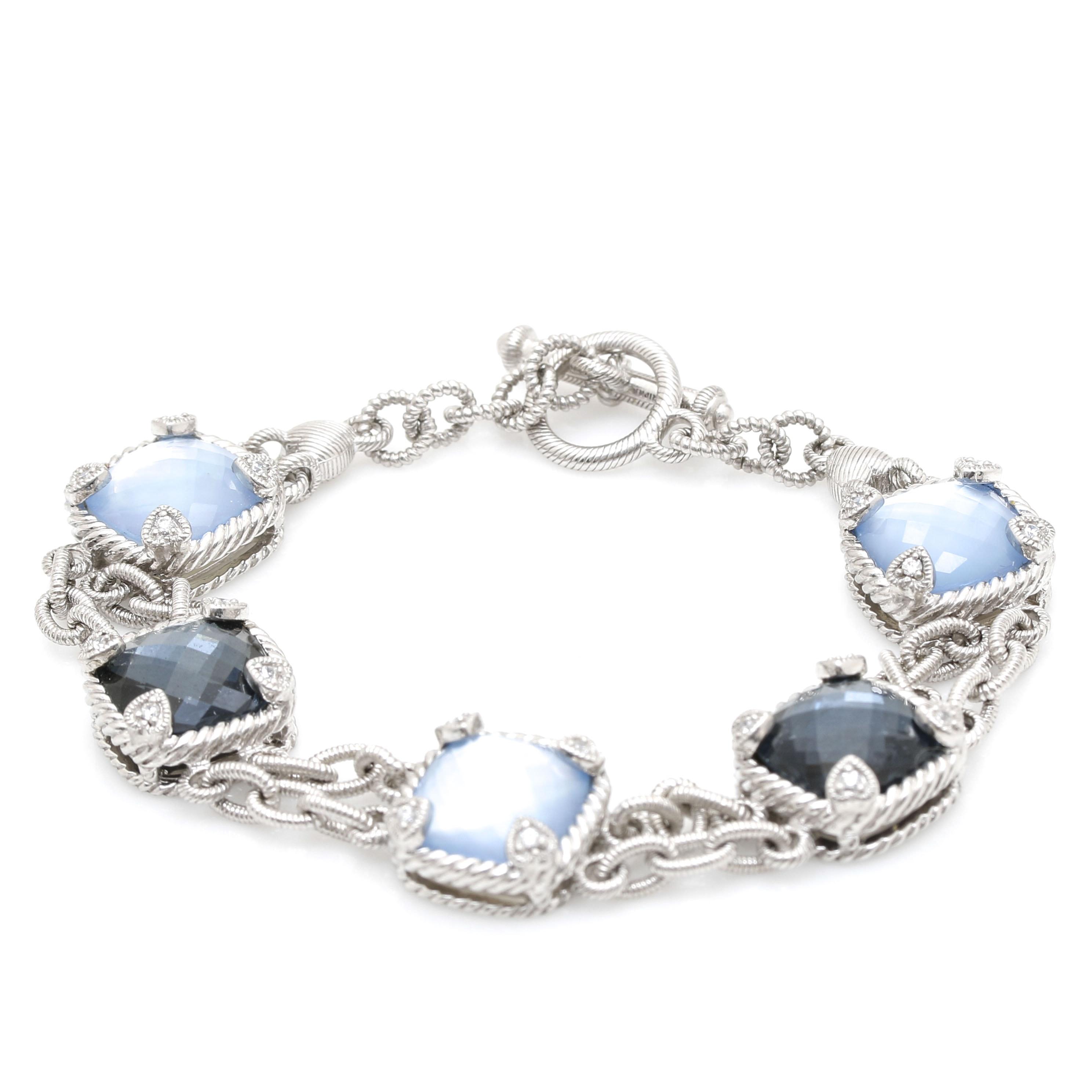 Judith Ripka Sterling Silver Gemstone Bracelet