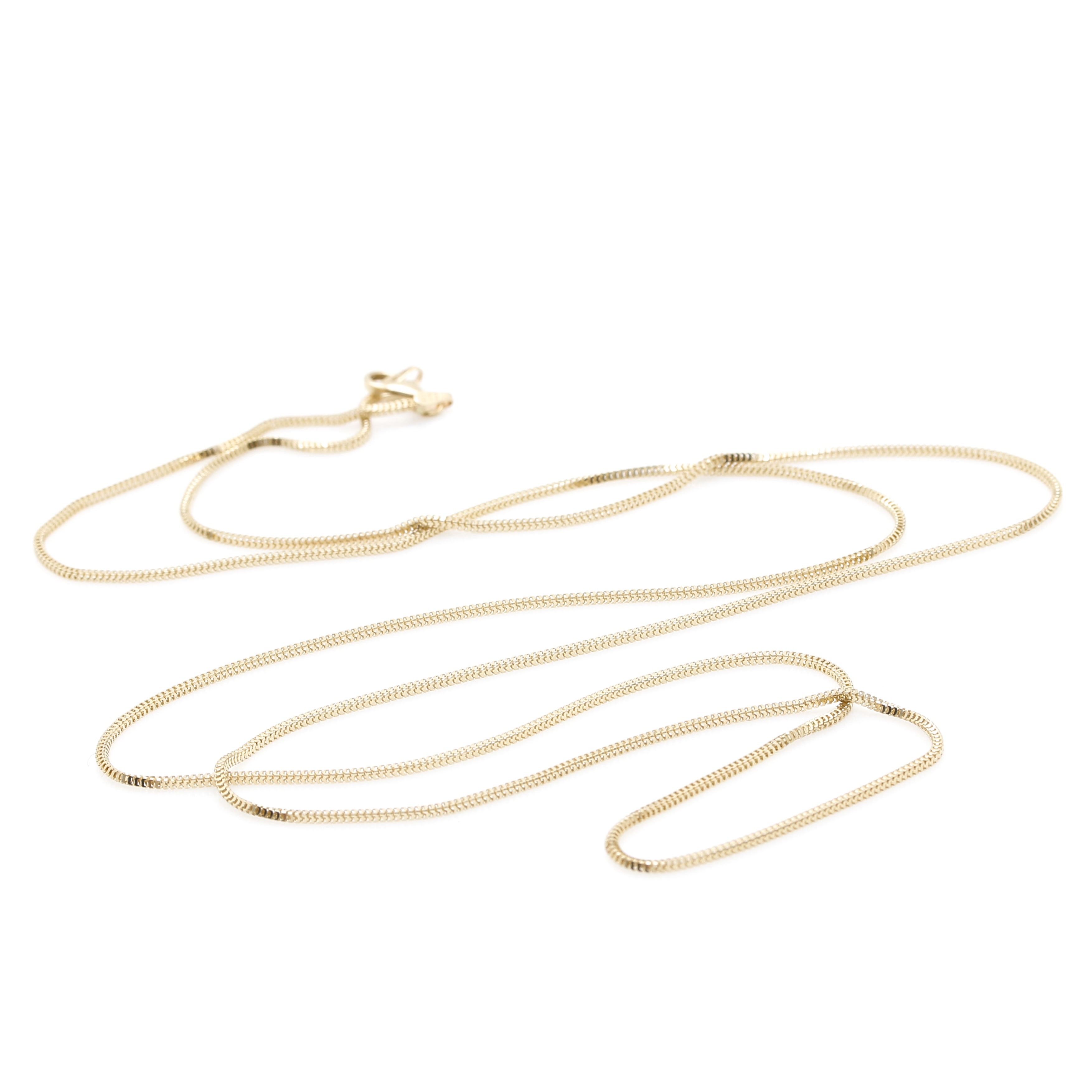 14K Yellow Gold Milor Box Chain Necklace