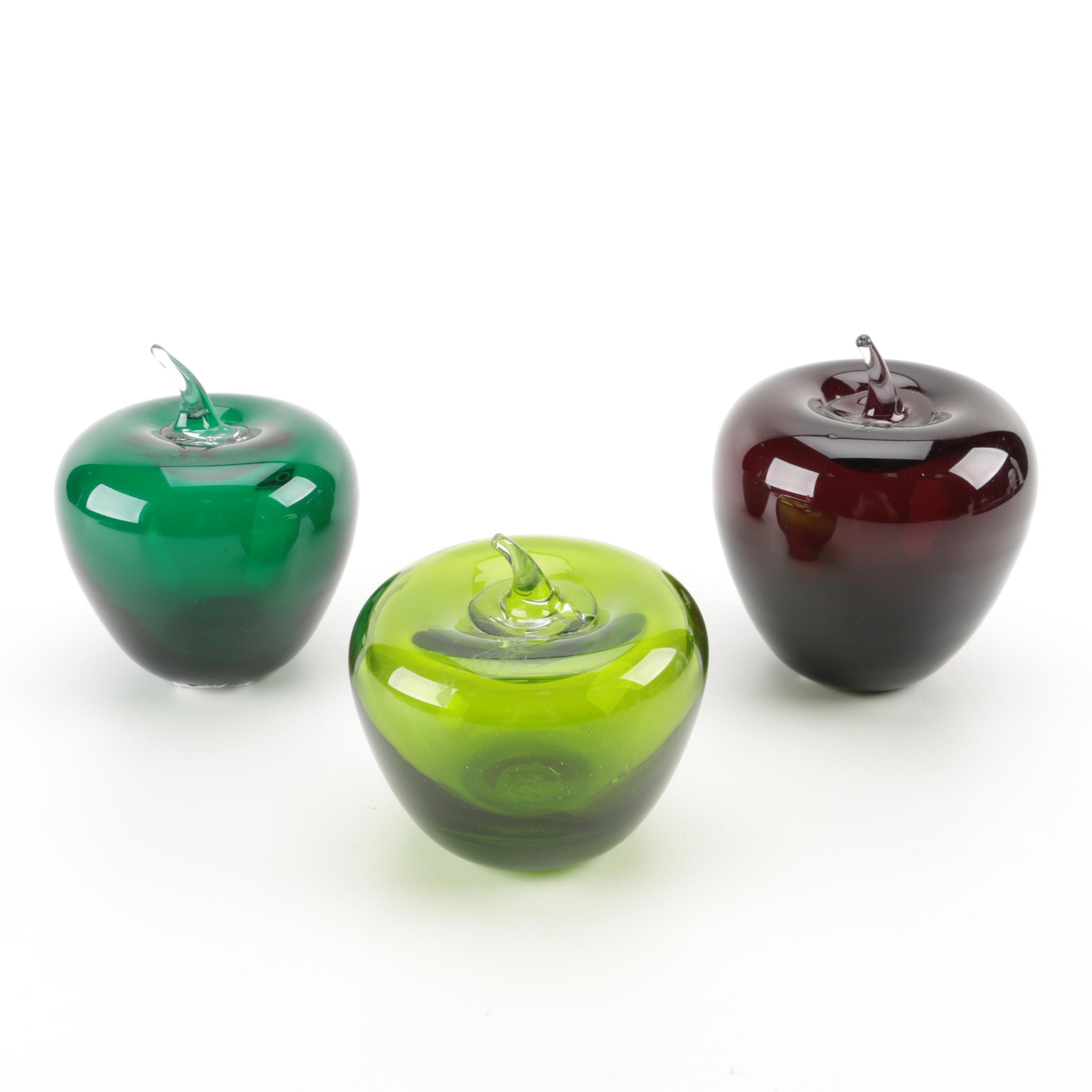 Blenko Glass Apples