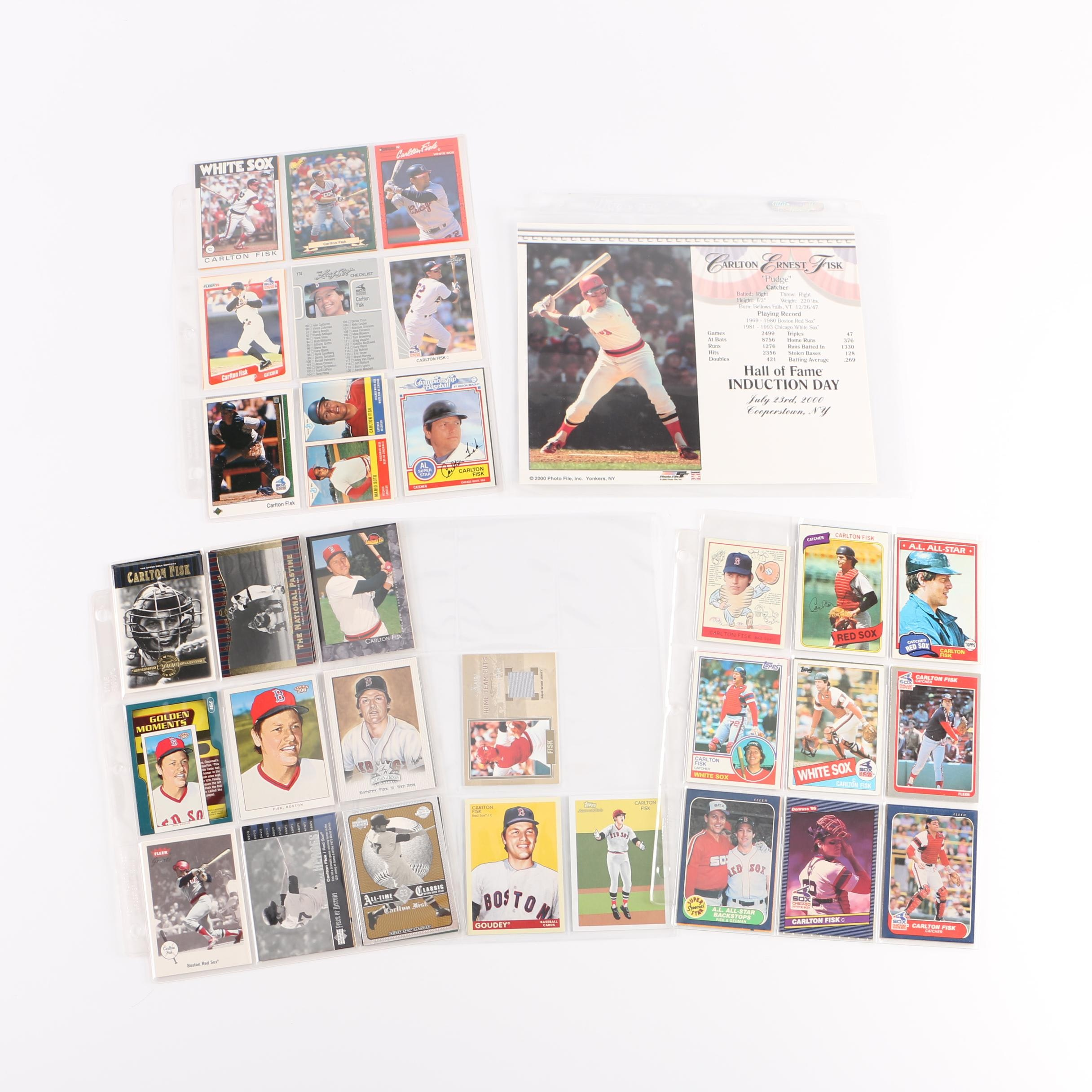 Collection of Carlton Fisk Memorabilia