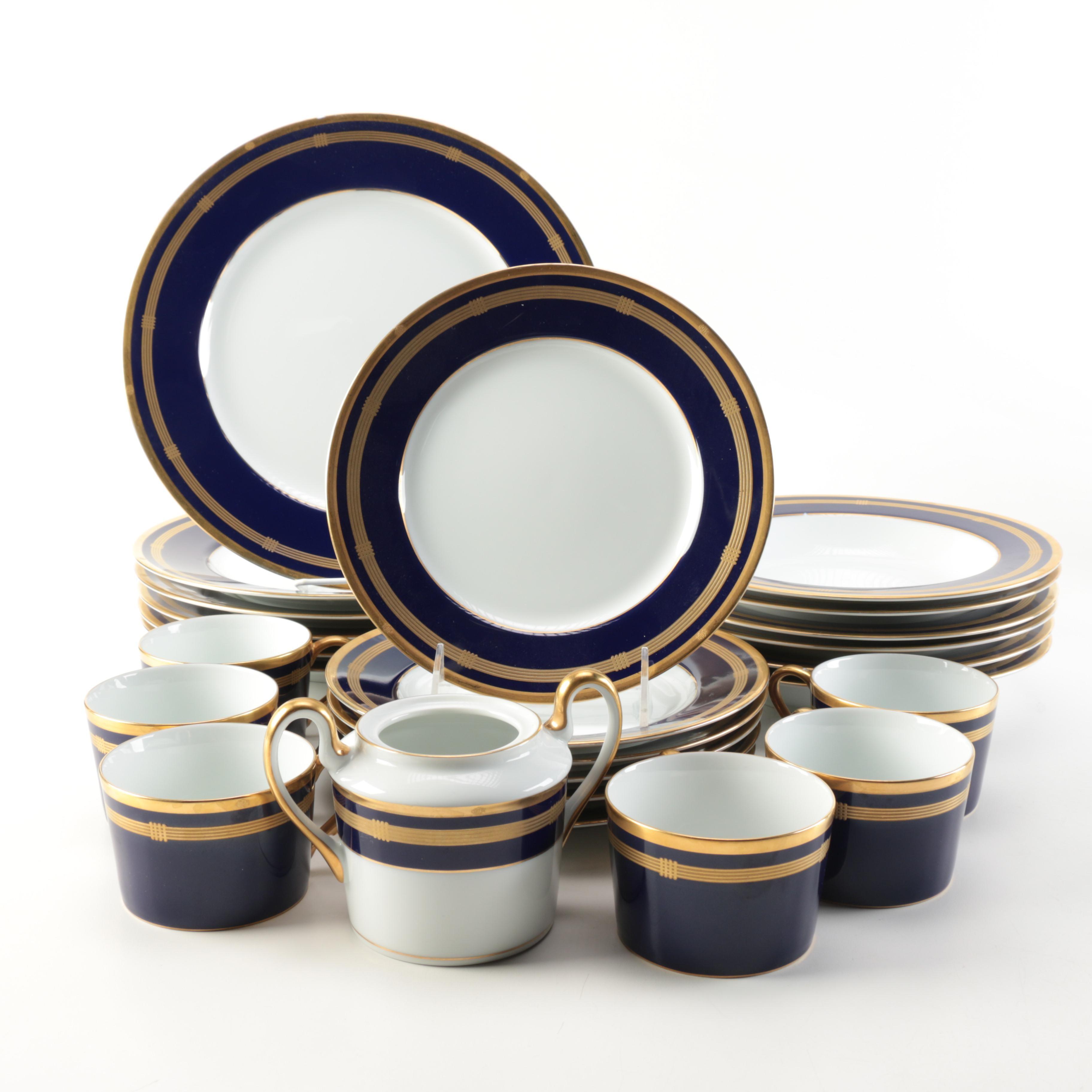Christian Dior Porcelain Dinnerware Set  Gaudron Lapis  ...  sc 1 st  EBTH.com & Christian Dior Porcelain Dinnerware Set