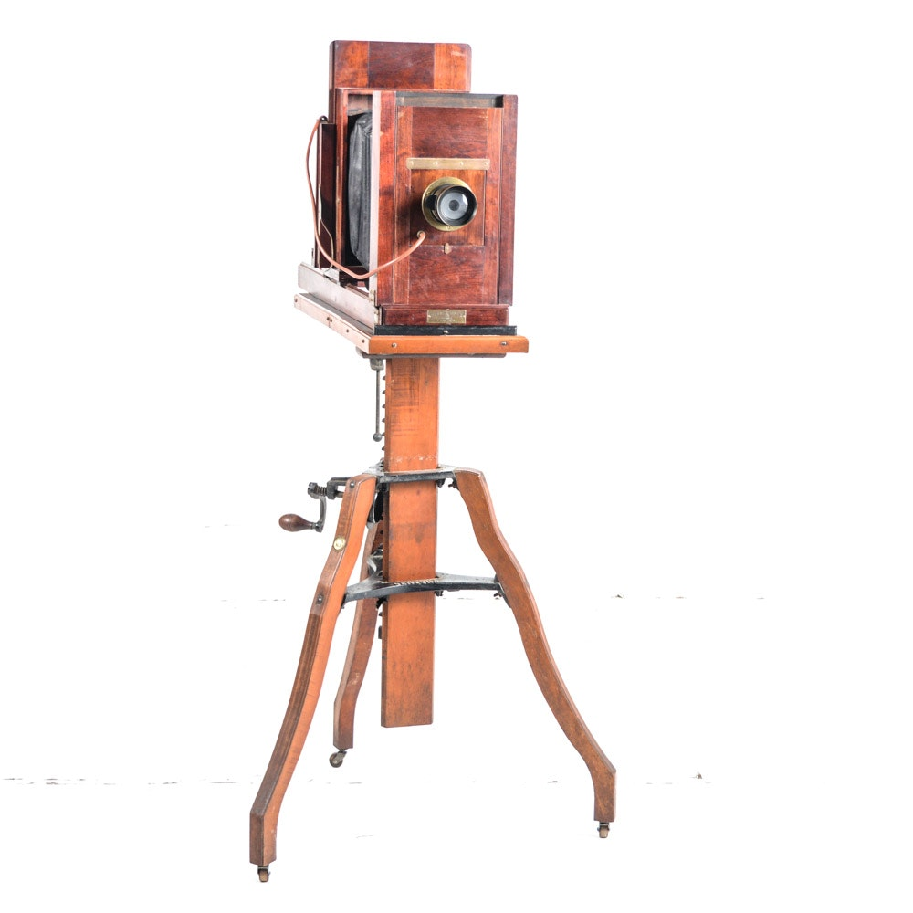 """Antique Burke & James """"Ingento"""" View Camera with Century No. 3 Stand"""