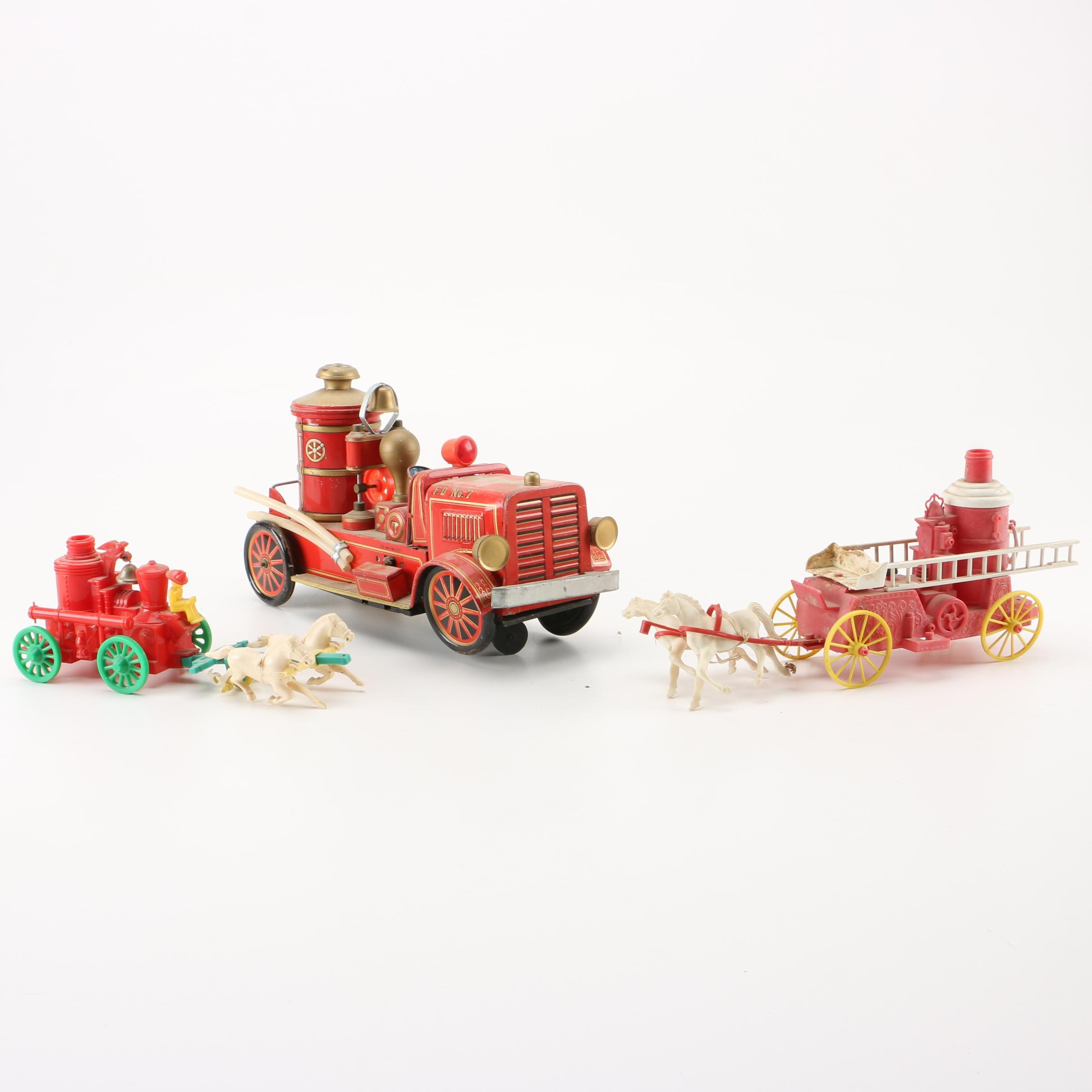 Vintage Toy Antique Fire Engines