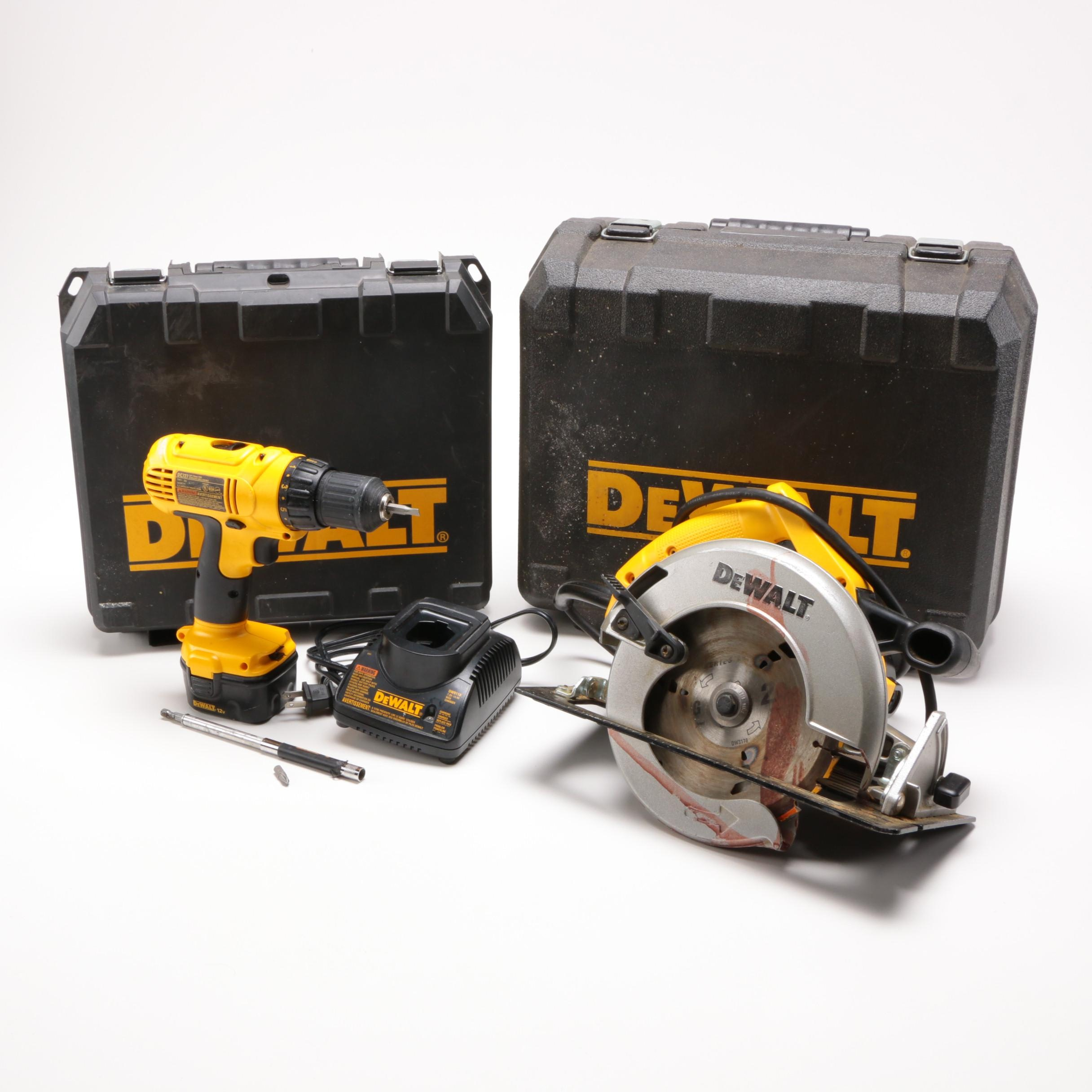 DeWalt Drill and Circular Saw