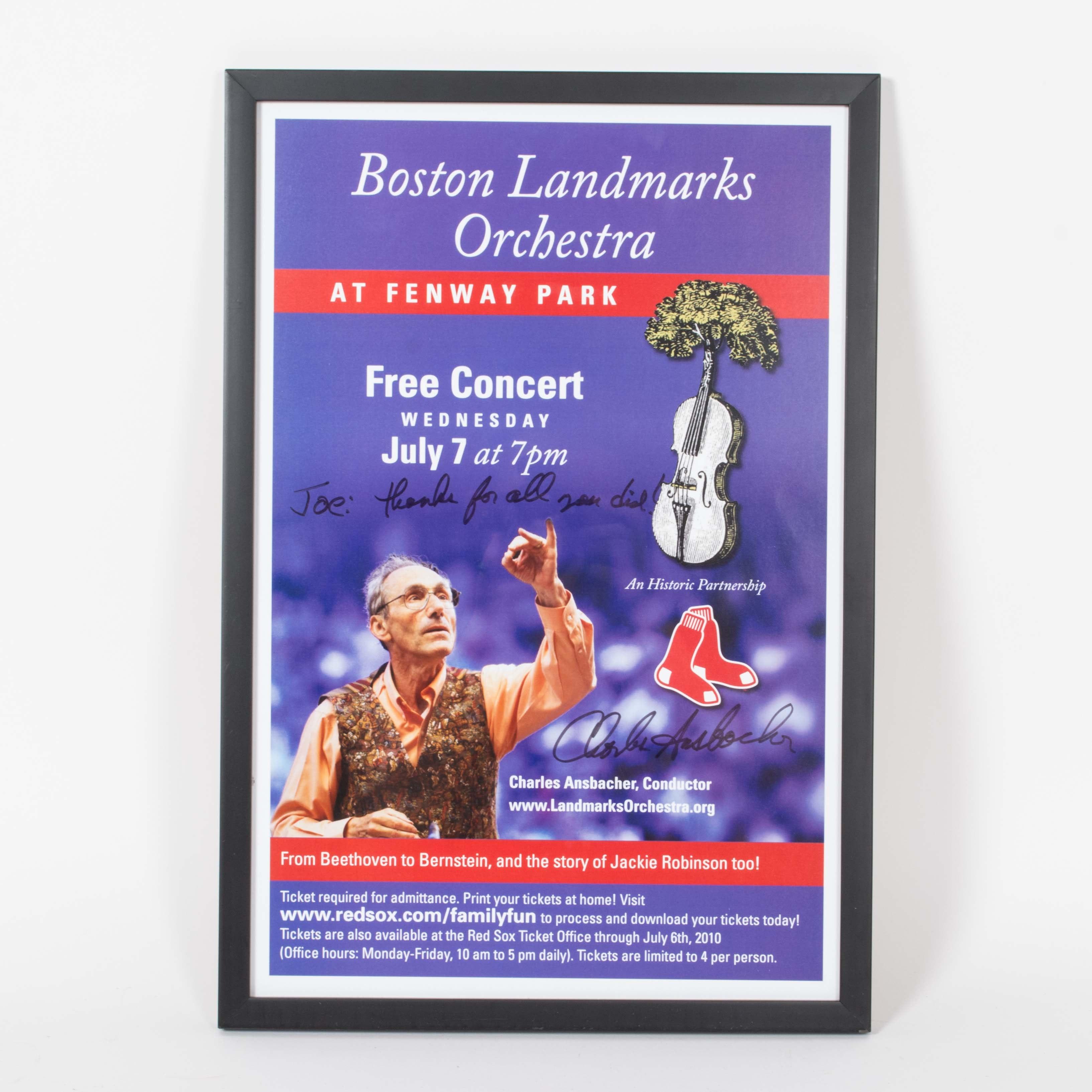 Signed Charles Ansbacher Boston Landmarks Orchestra Poster