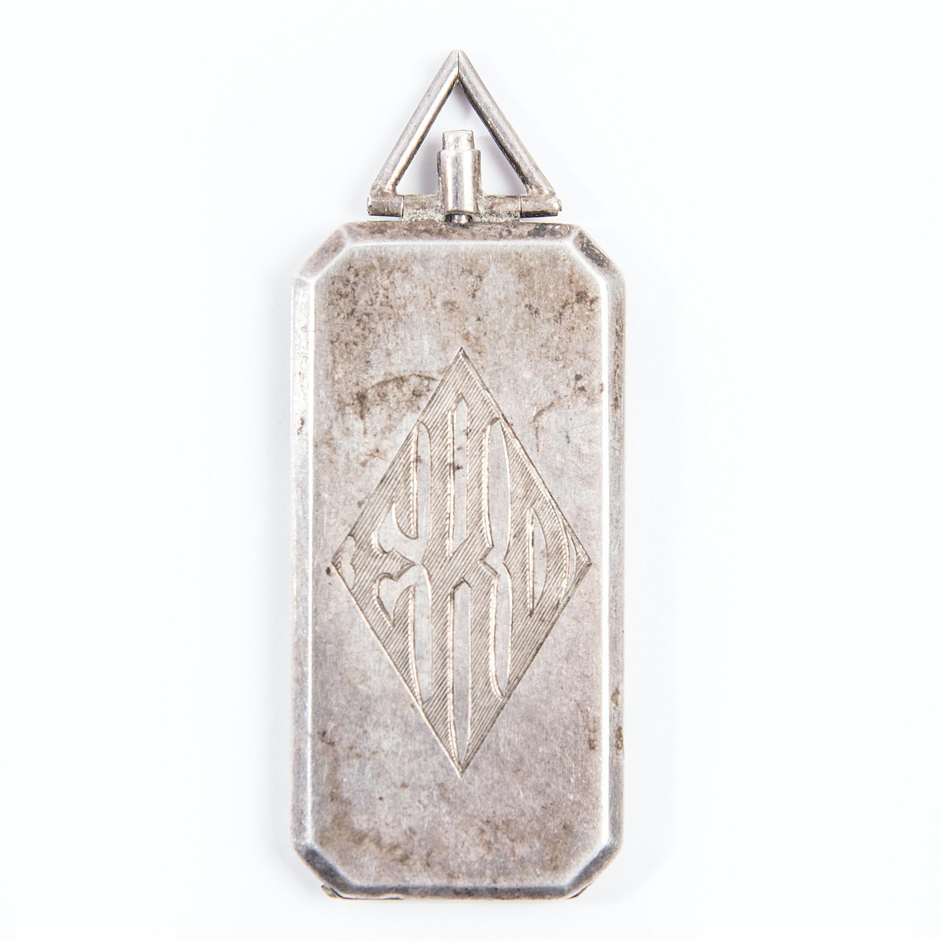 Vintage Sterling Silver Locket Pendant