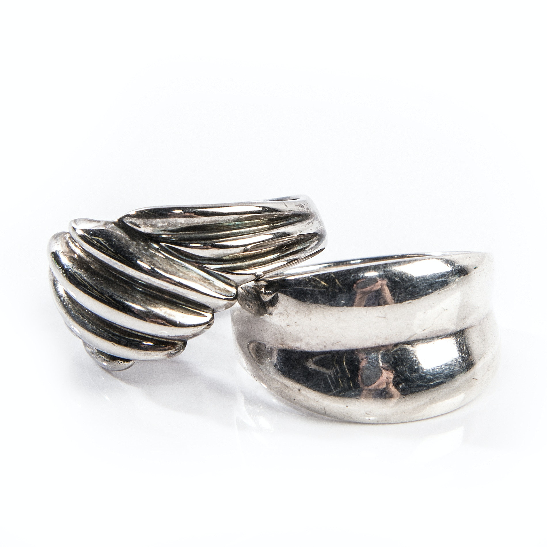 "Sterling Silver ""Ribbed"" Rings"