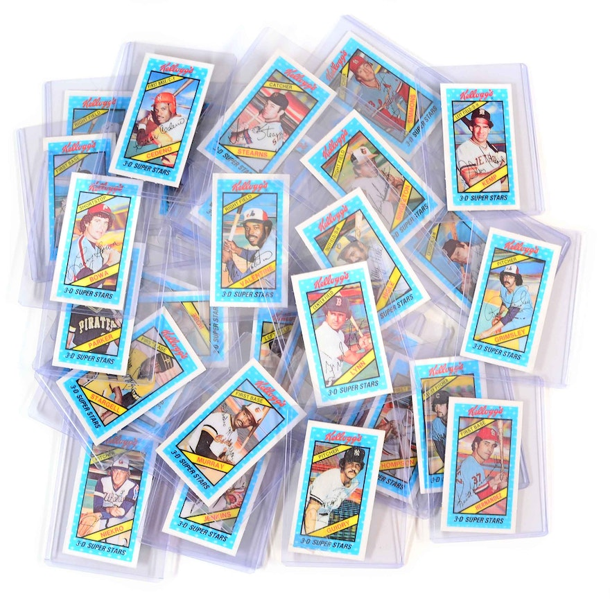 Forty Three 1980 Kellogg 3 D Baseball Cards
