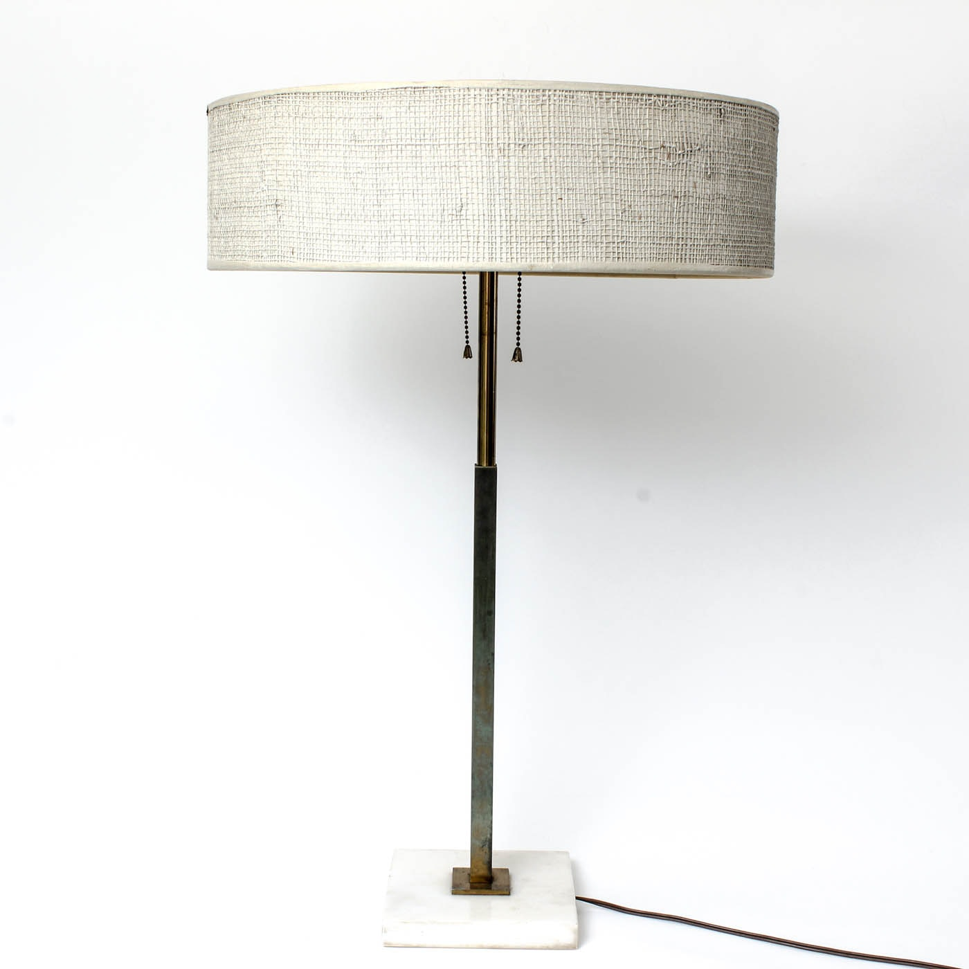 Mid Century Saucer Lamp with Shade