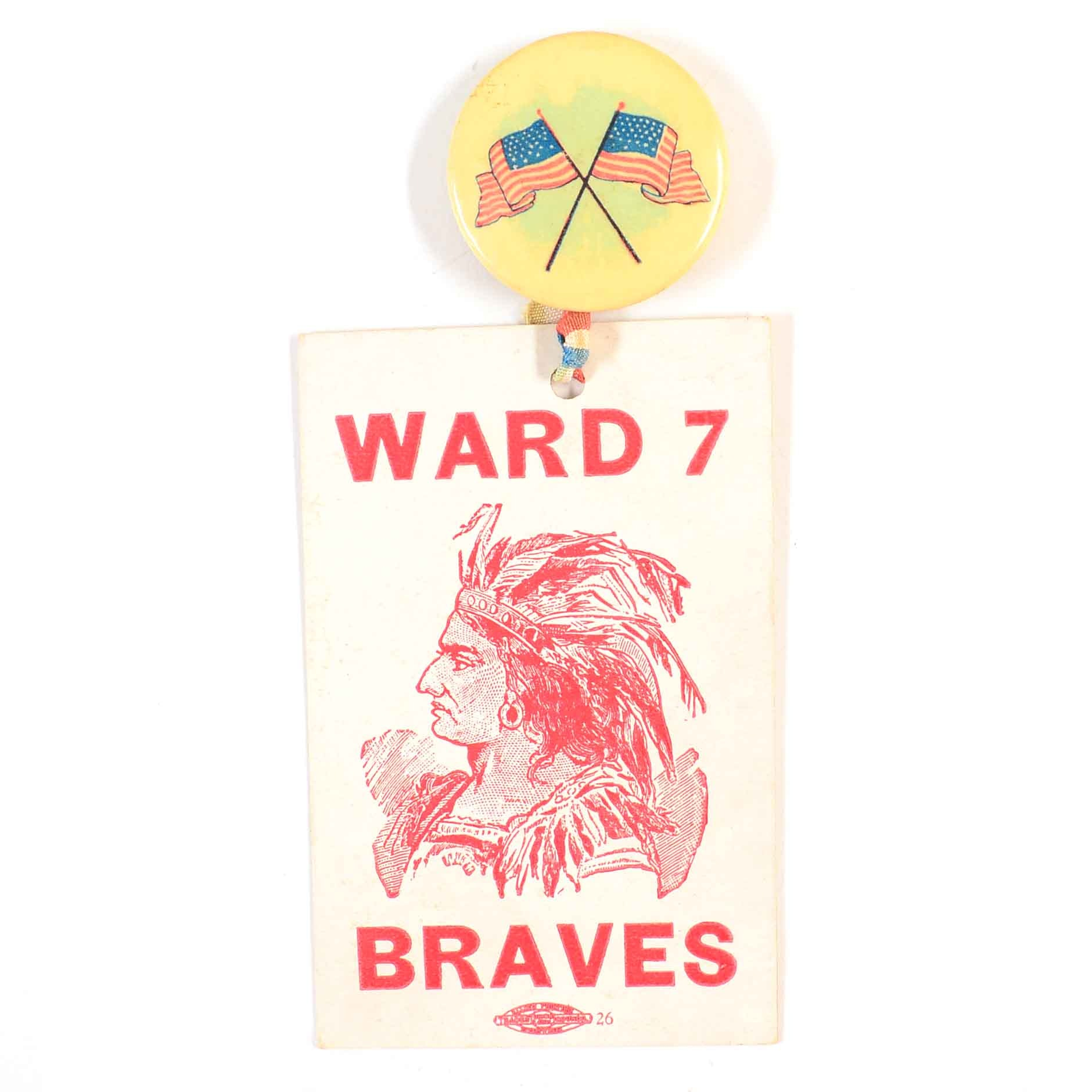 "Early 1900s Boston Braves ""Ward 7"" Baseball Pinback"