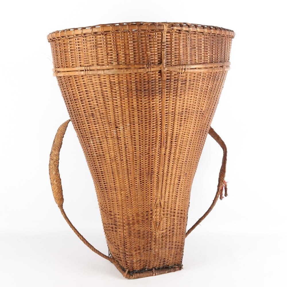 Vintage Grape Harvest Basket