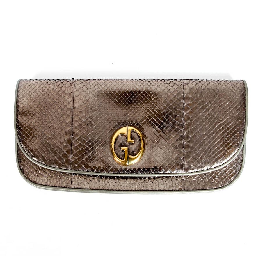 c55e4734414 Gucci Leather Clutch   EBTH
