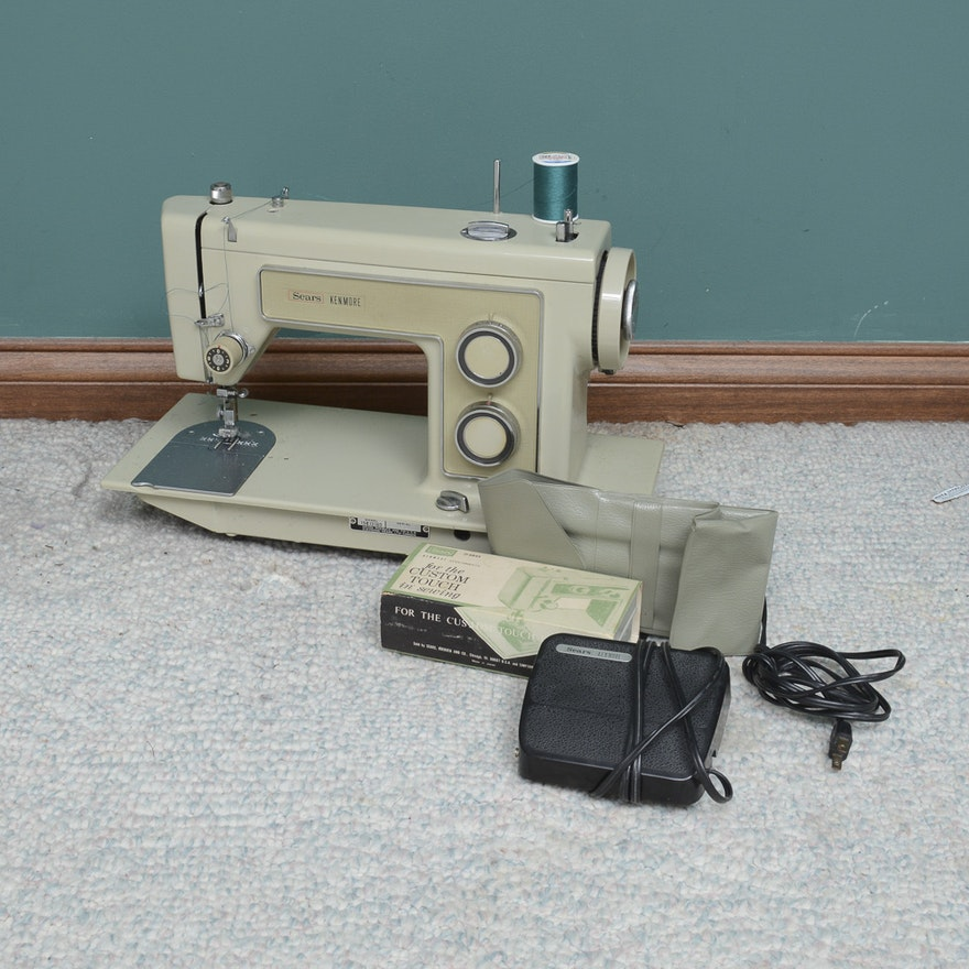 Vintage SearsKenmore Model 40 Sewing Machine EBTH Cool Sears Kenmore Sewing Machine 5186