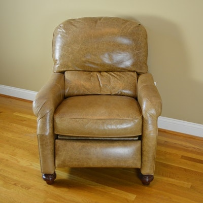 Pearson Camel Leather Recliner