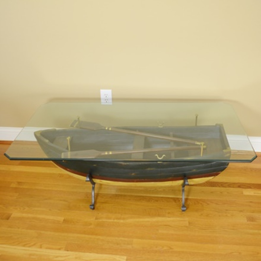 Coffee table shaped like a boat. - Yelp |Dinghy Coffee Table