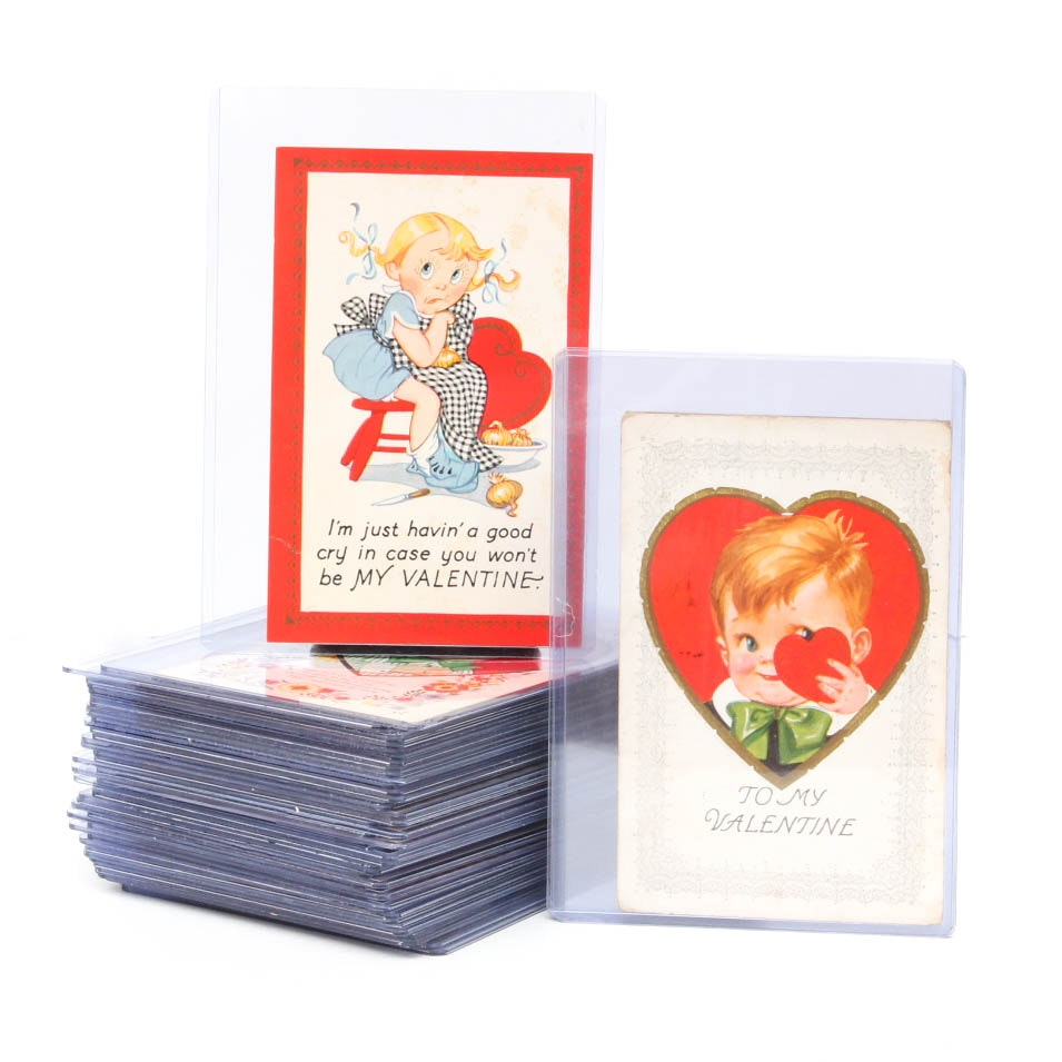 Antique Valentine's Day Postcard Collection